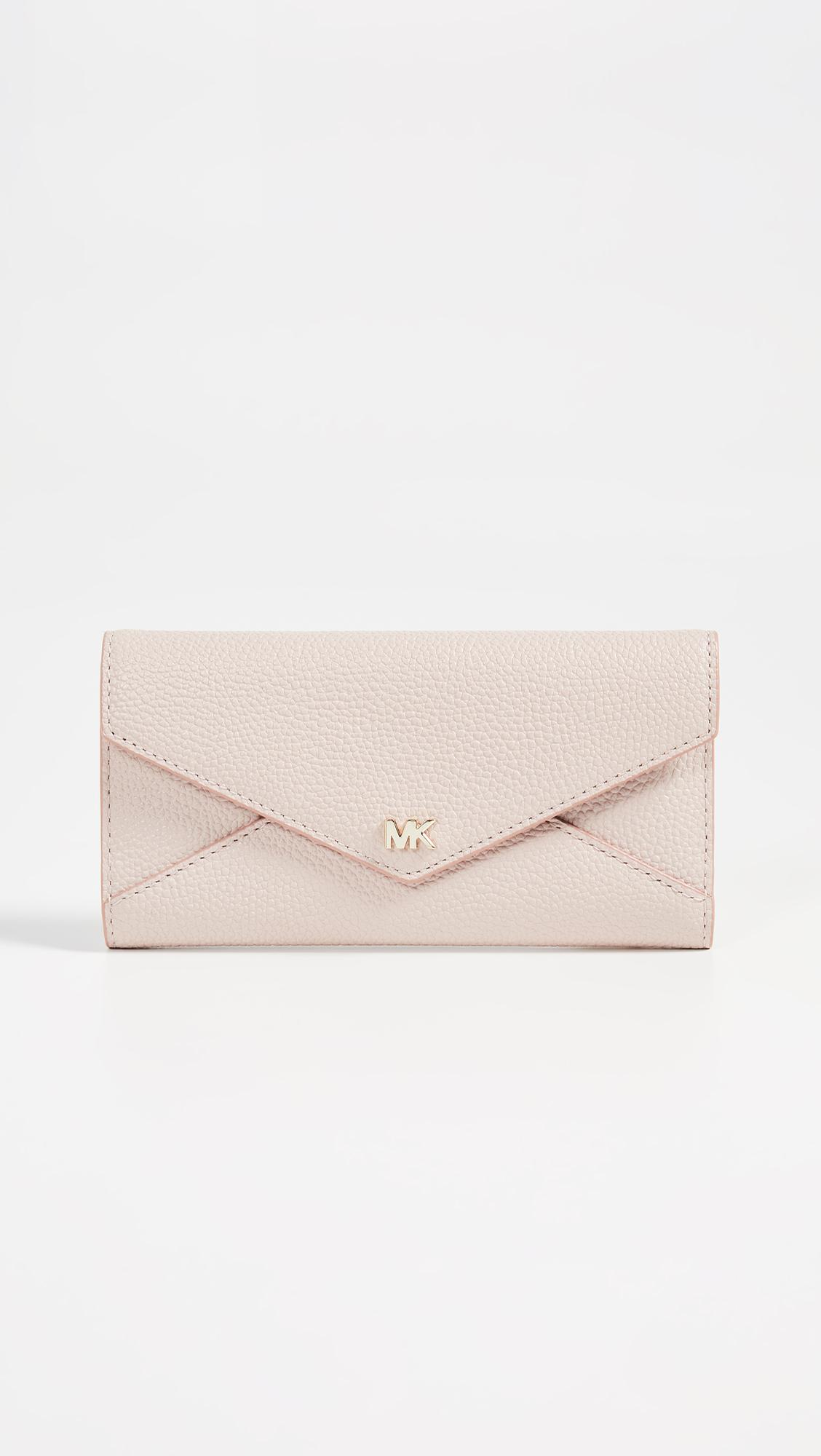 a92a4bad9f0d MICHAEL Michael Kors Large Slim Envelope Trifold Wallet in Pink - Lyst