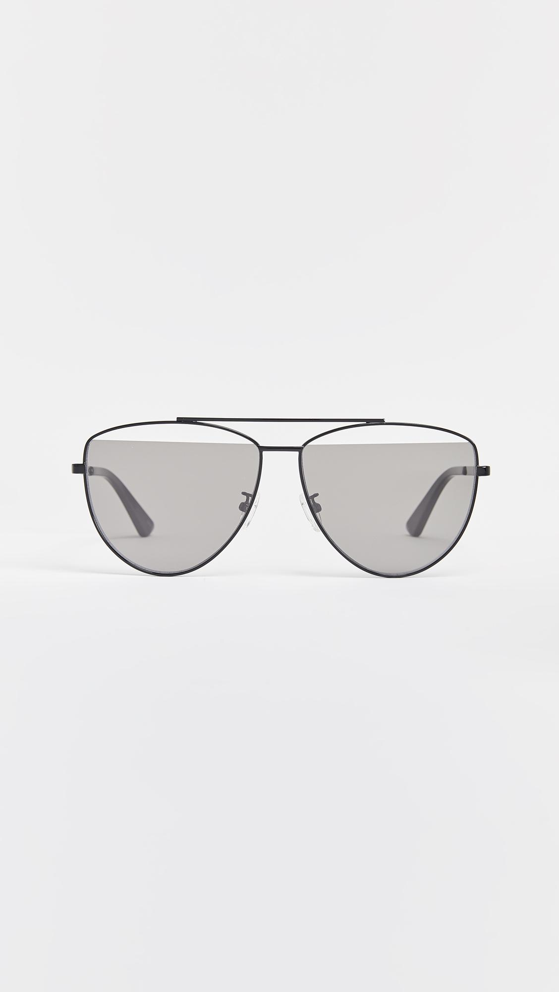 87df617d51 Mcq Alexander Mcqueen Iconic Pilot Frame Sunglasses in Gray - Lyst