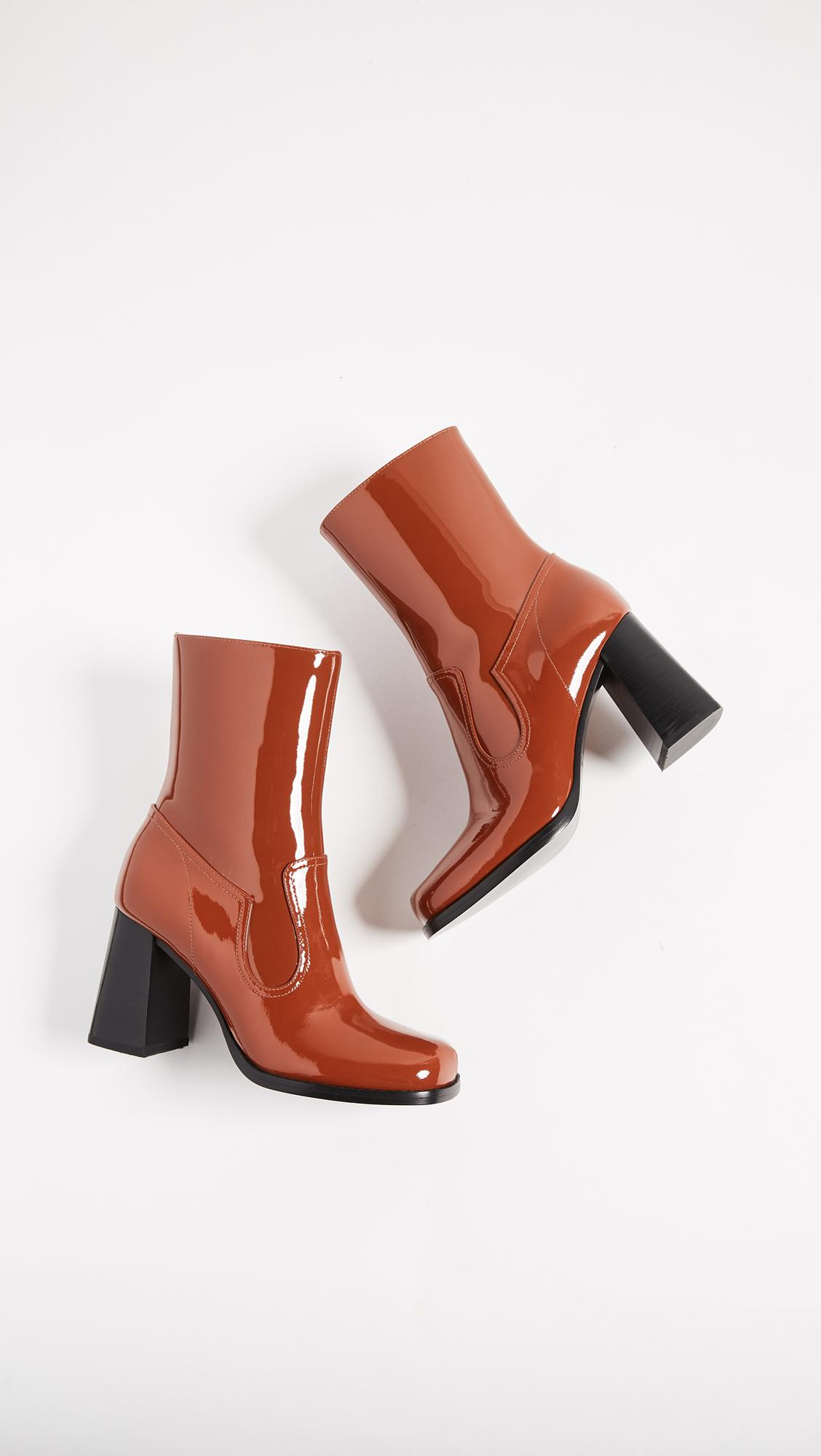 Marc Jacobs Leather Ross Ankle Boots in