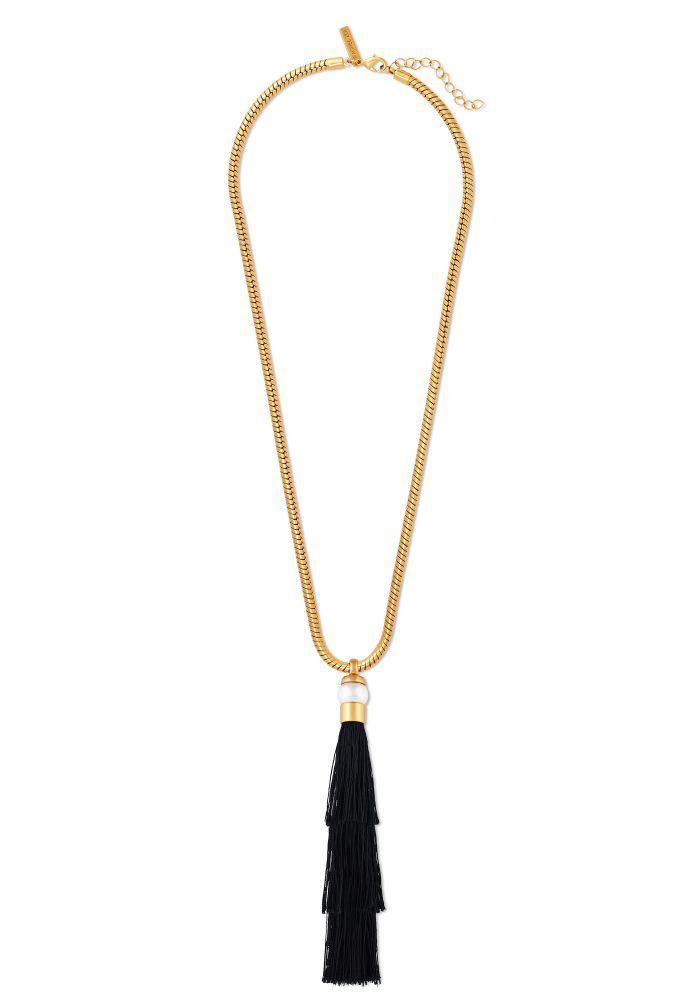 Rachel Zoe Kayden Sphere Pendant Wrap Necklace Gold/silver wWINyHb