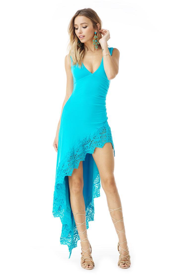 7debcf4a96 Lyst - Sky Weisheng High Low Dress in Blue