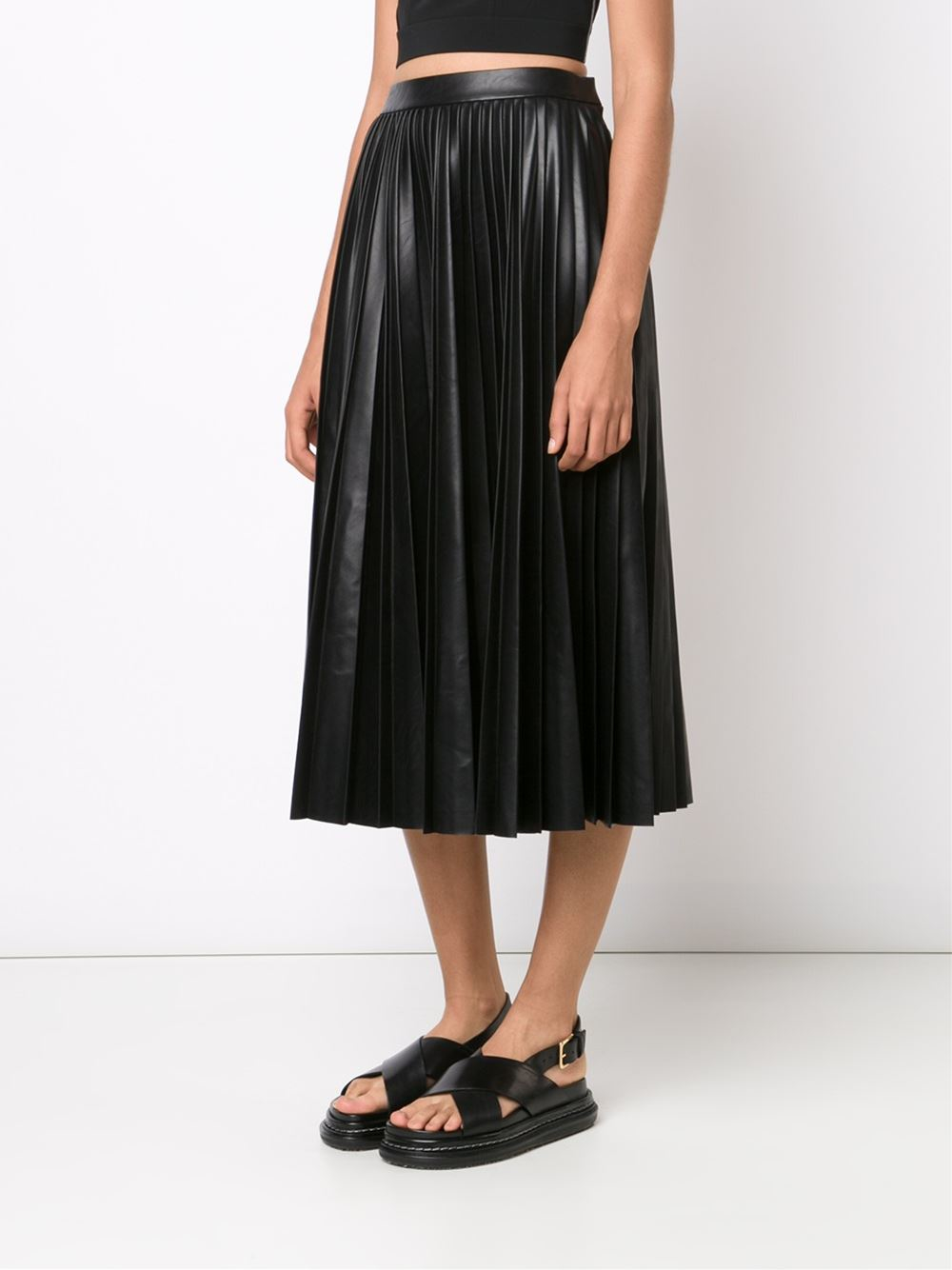 wang pleated a line skirt in black lyst