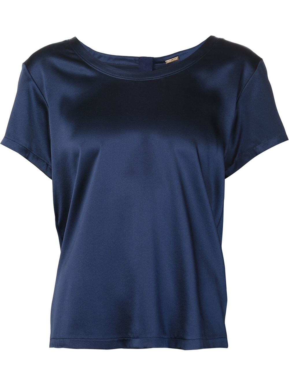 Adam lippes scoop neck t shirt in blue lyst for Adam lippes t shirt
