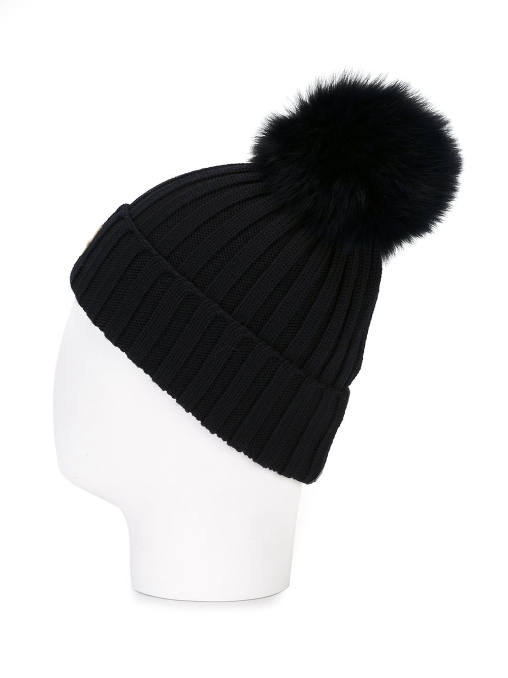 moncler barretto knit hat with pom pom in black lyst