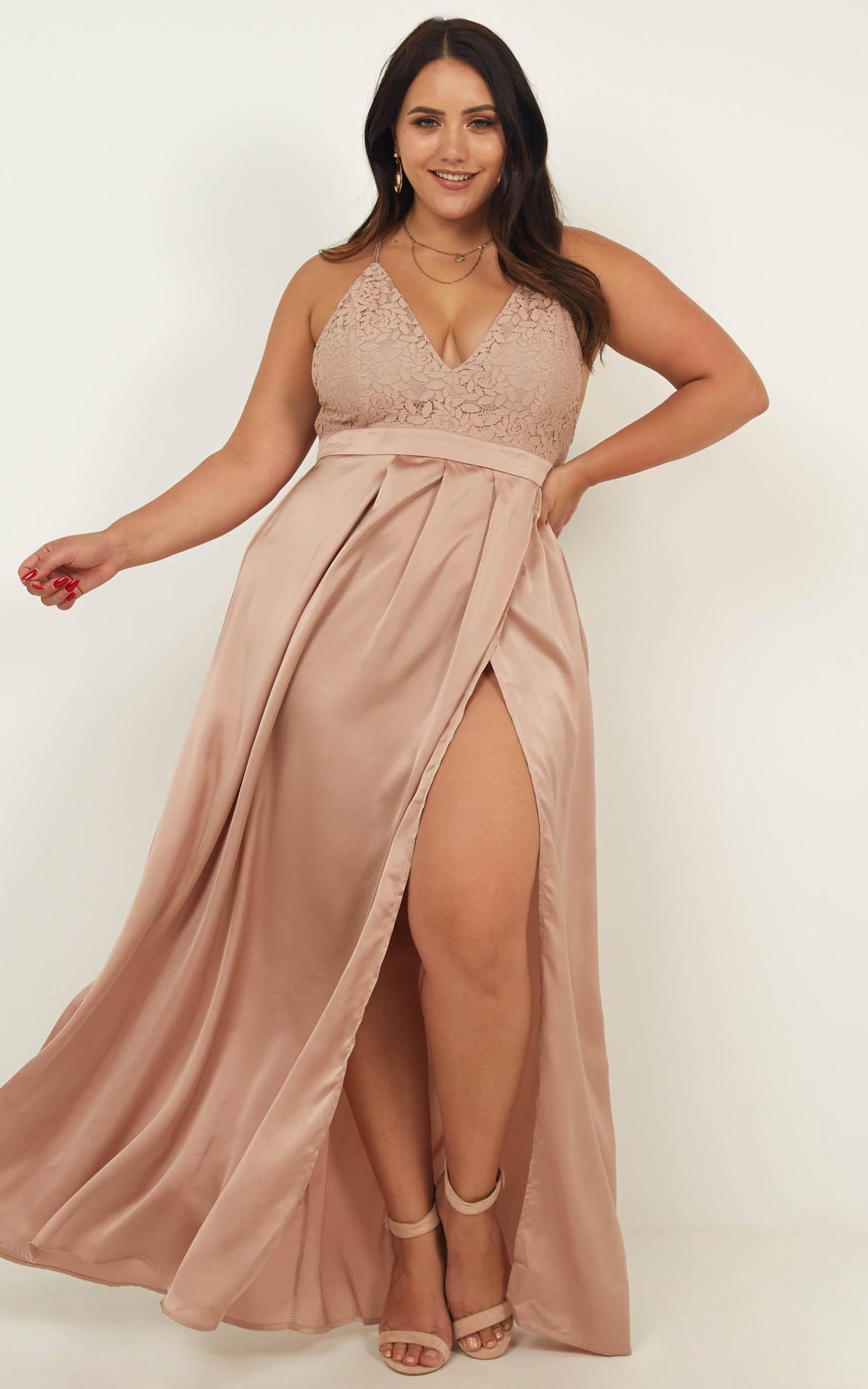 Mocha Satin Dress