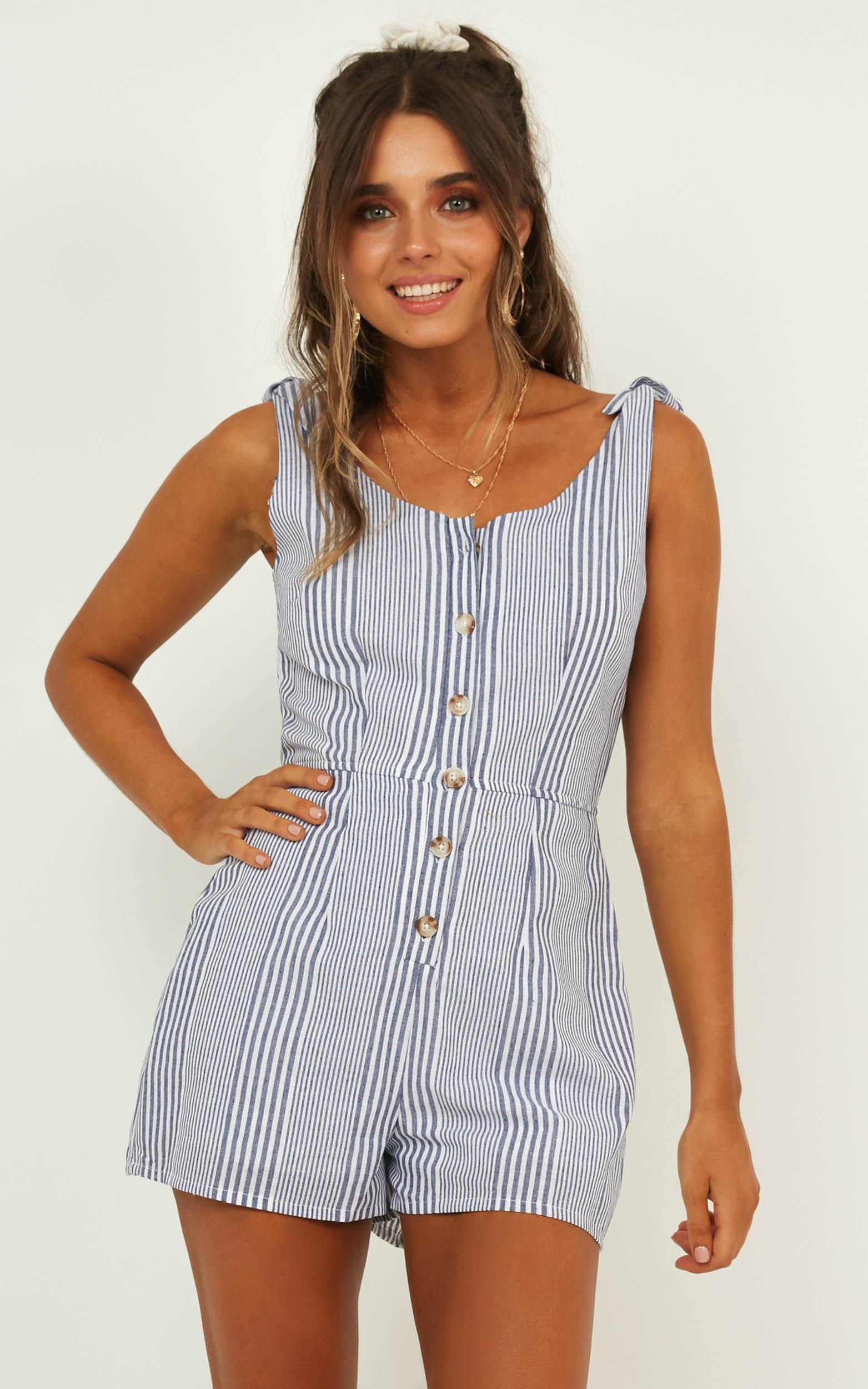 0a481ce4eaa Lyst - Showpo No Replacing You Playsuit in Blue