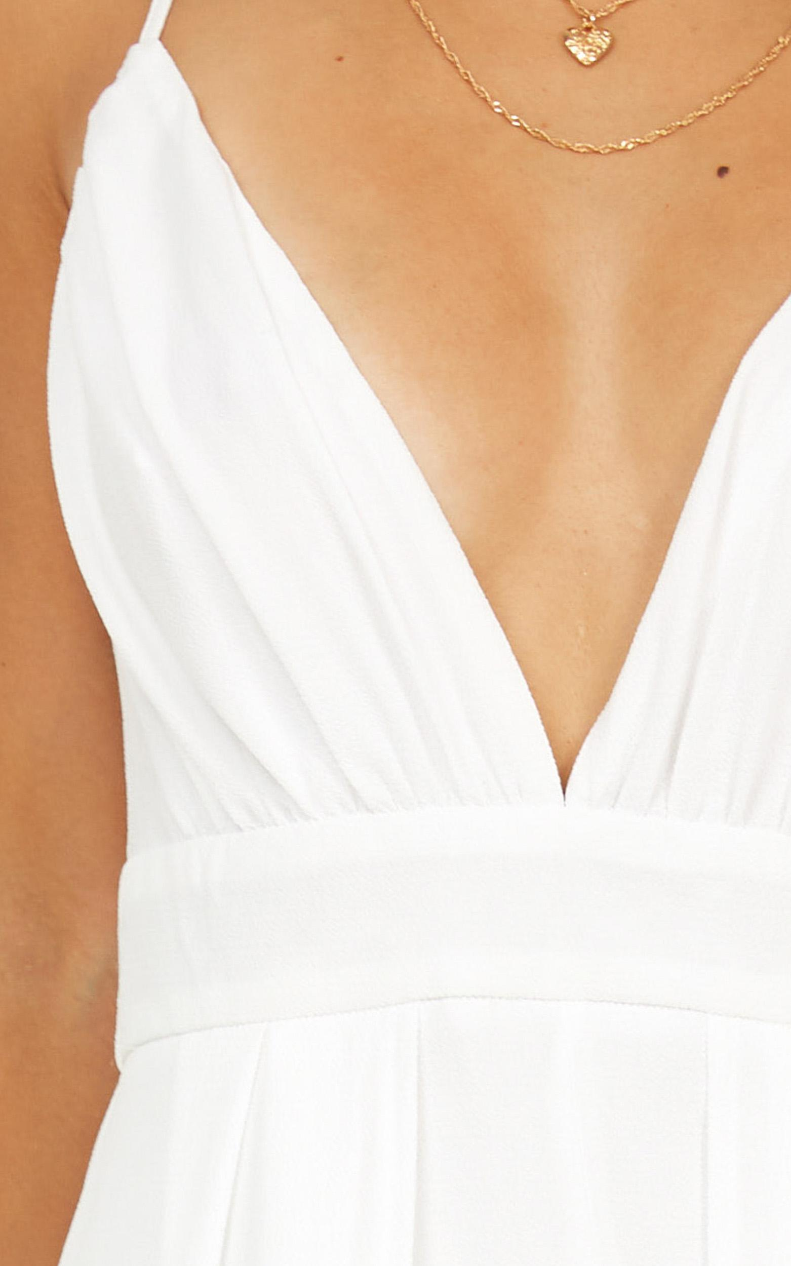 2f4f289e01 Lyst - Showpo Return To Reality Maxi Playsuit in White