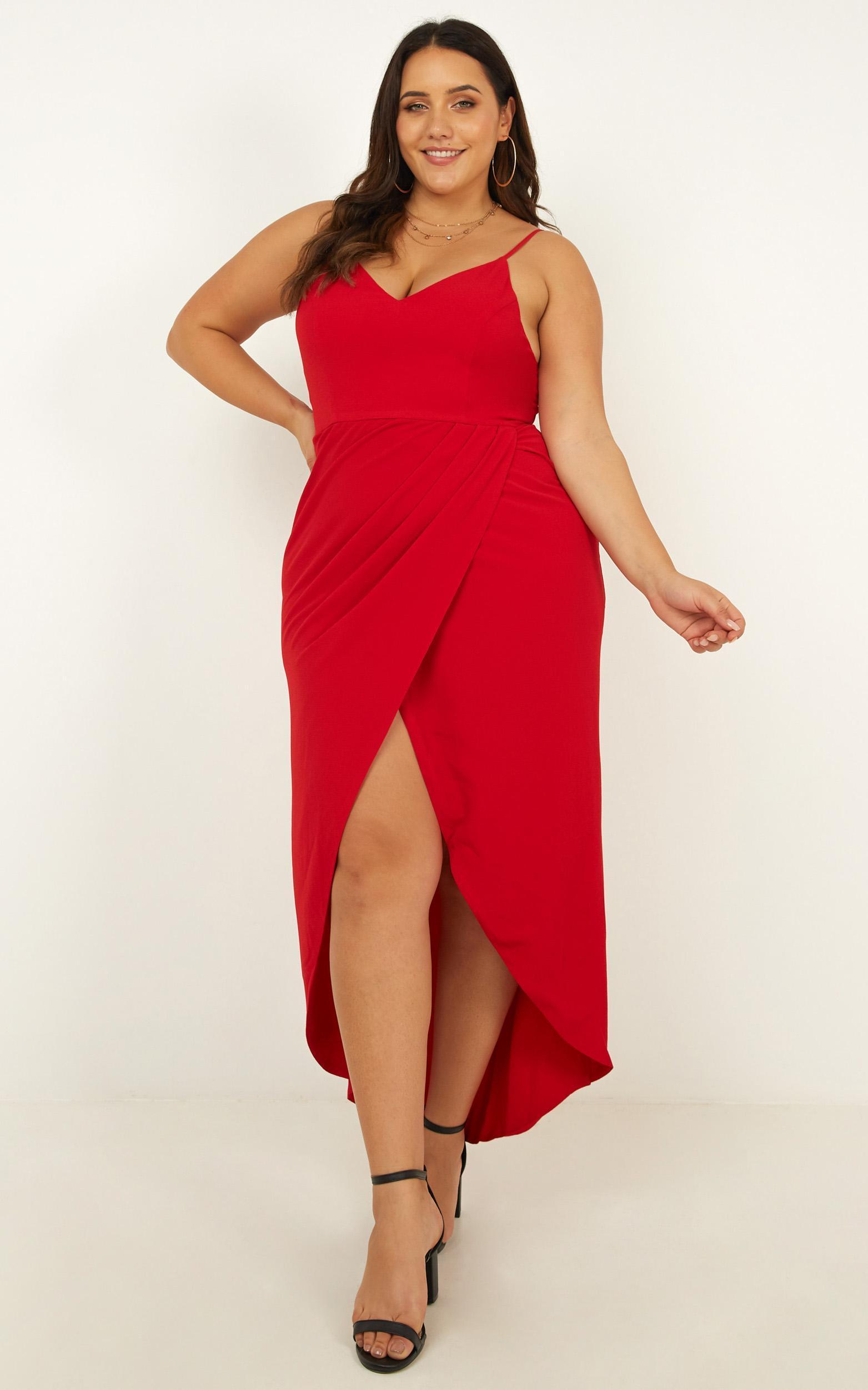 3b9307c2ec7 Showpo - Red Lucky Day Maxi Dress - Lyst. View fullscreen