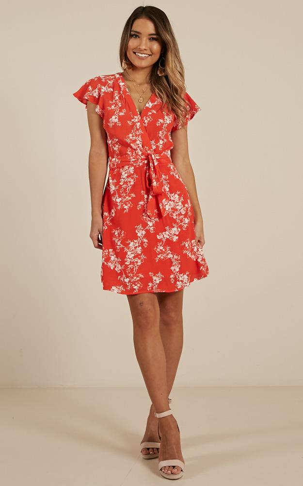396f0833f9a Lyst - Showpo Hathaway Dress In Red Floral in Red