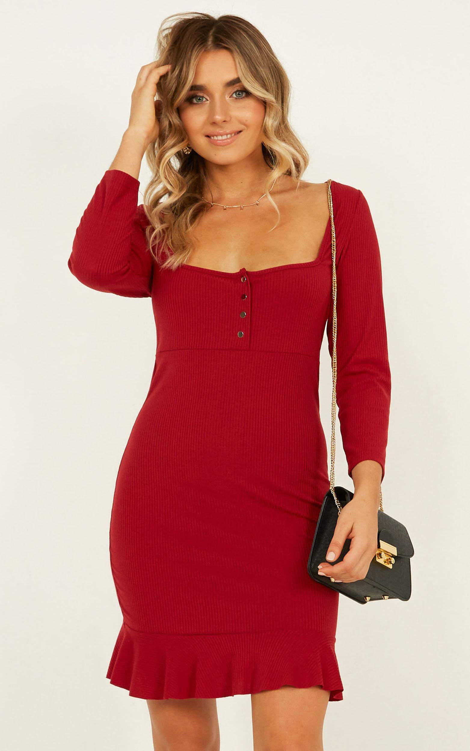 83626e4dc8 Lyst - Showpo Boy Im Just Playing Dress in Red