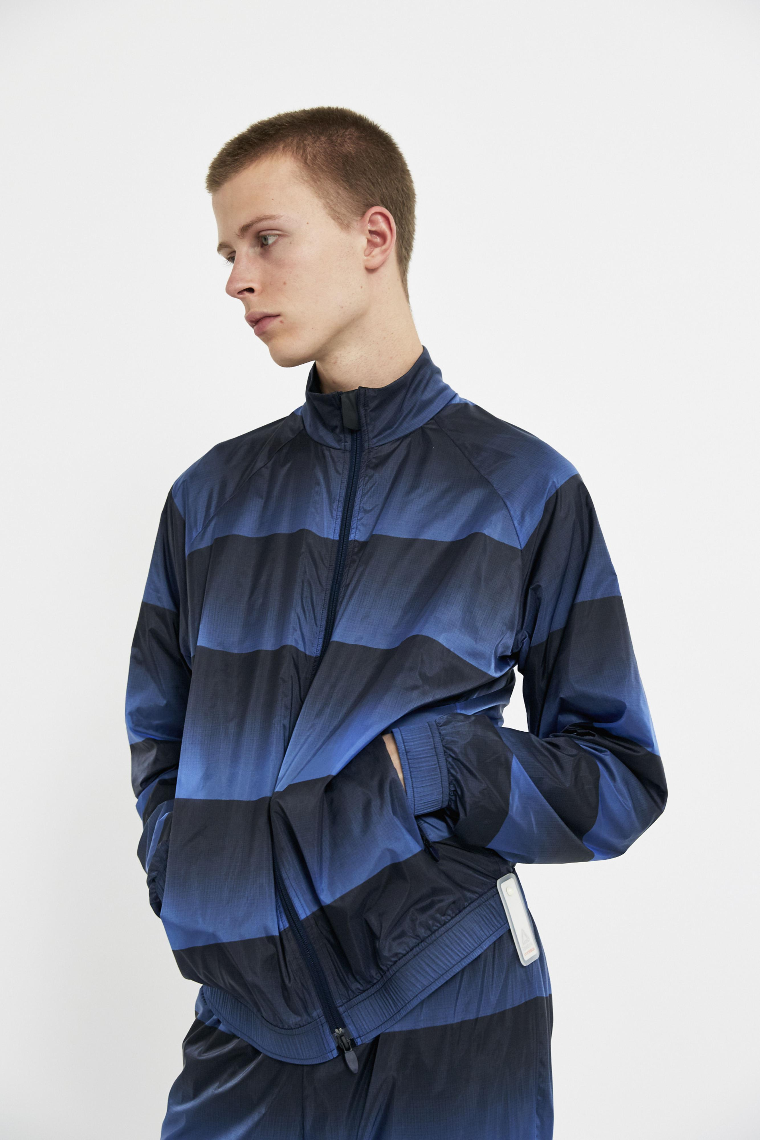 Reebok Synthetic Navy Frosted Track Jacket in Blue for Men