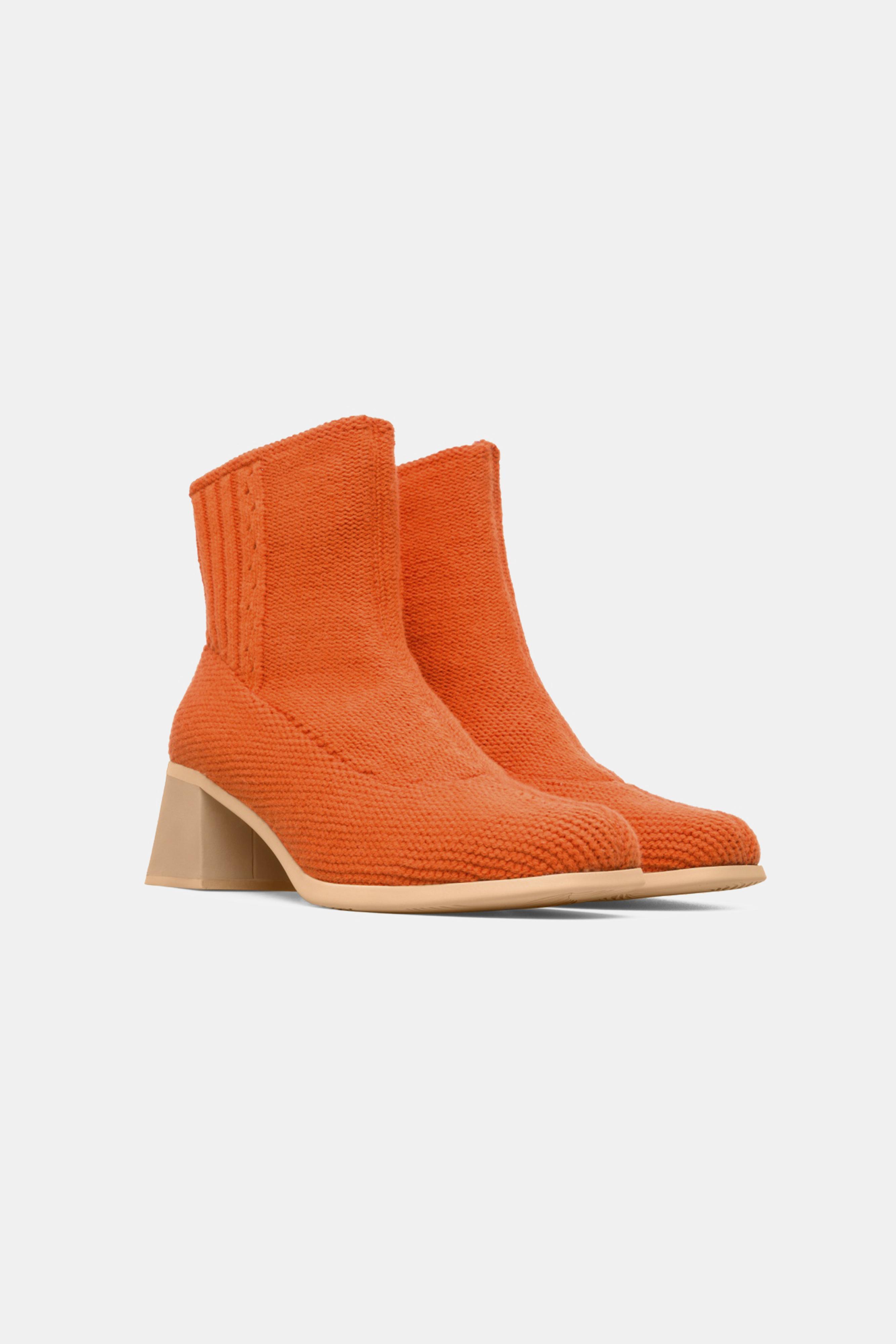 Eckhaus Latta Leather Orange Ankle