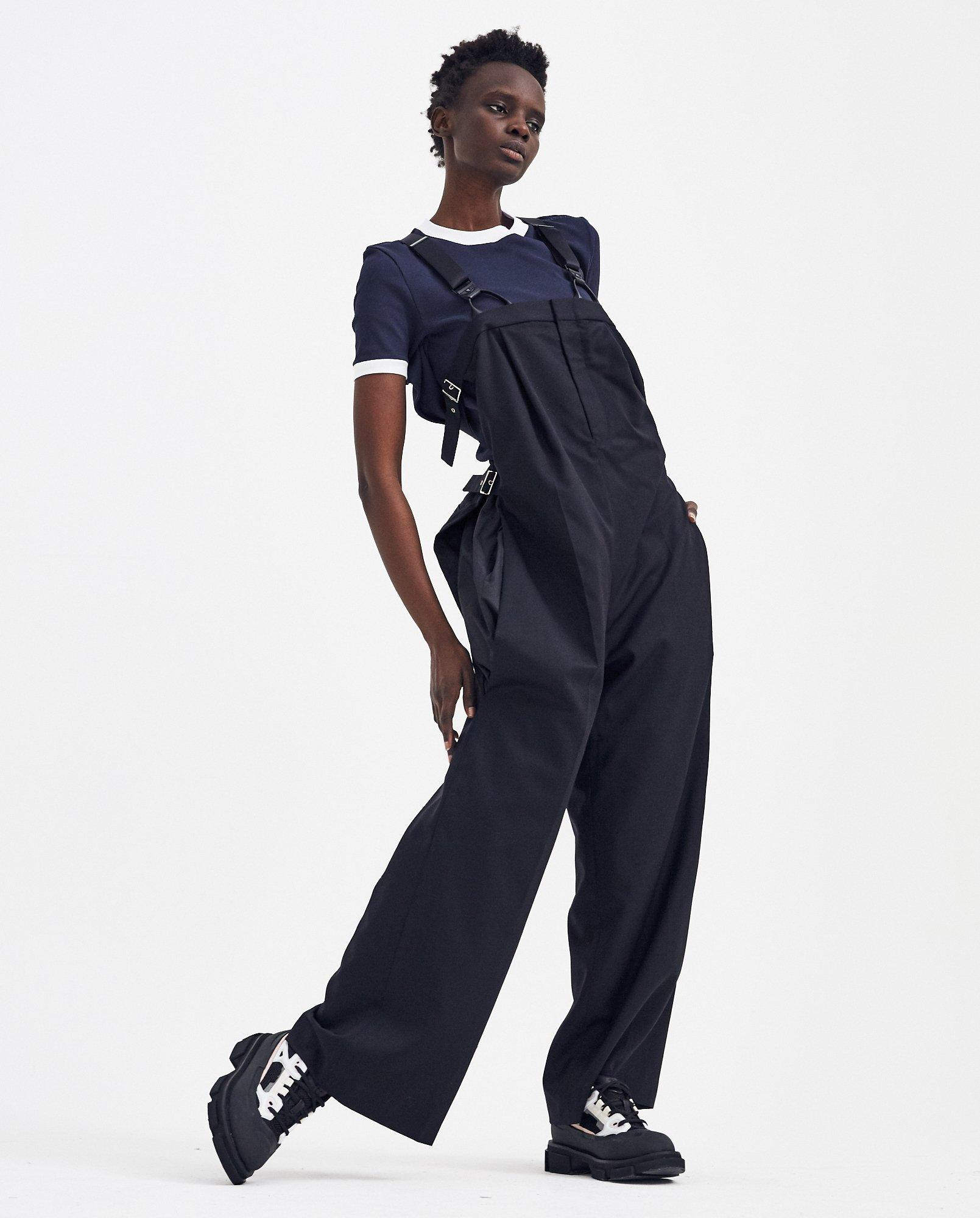 color brilliancy fast delivery complete in specifications Noir Kei Ninomiya Taffeta Dungaree Trousers in Blue - Lyst