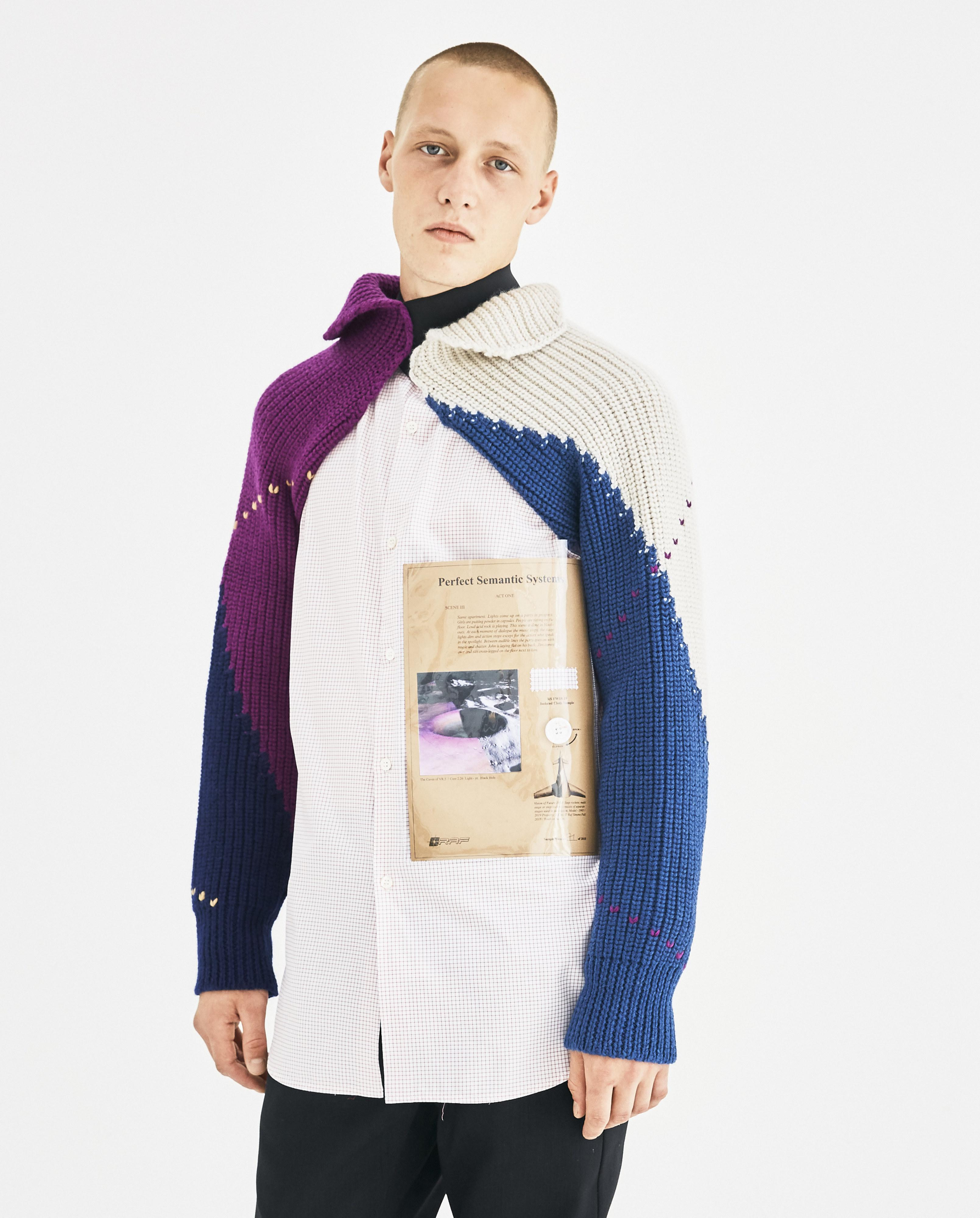 ff1bc6560ef397 Raf Simons Blue Knitted Sleeves With Elastic in Blue for Men - Lyst