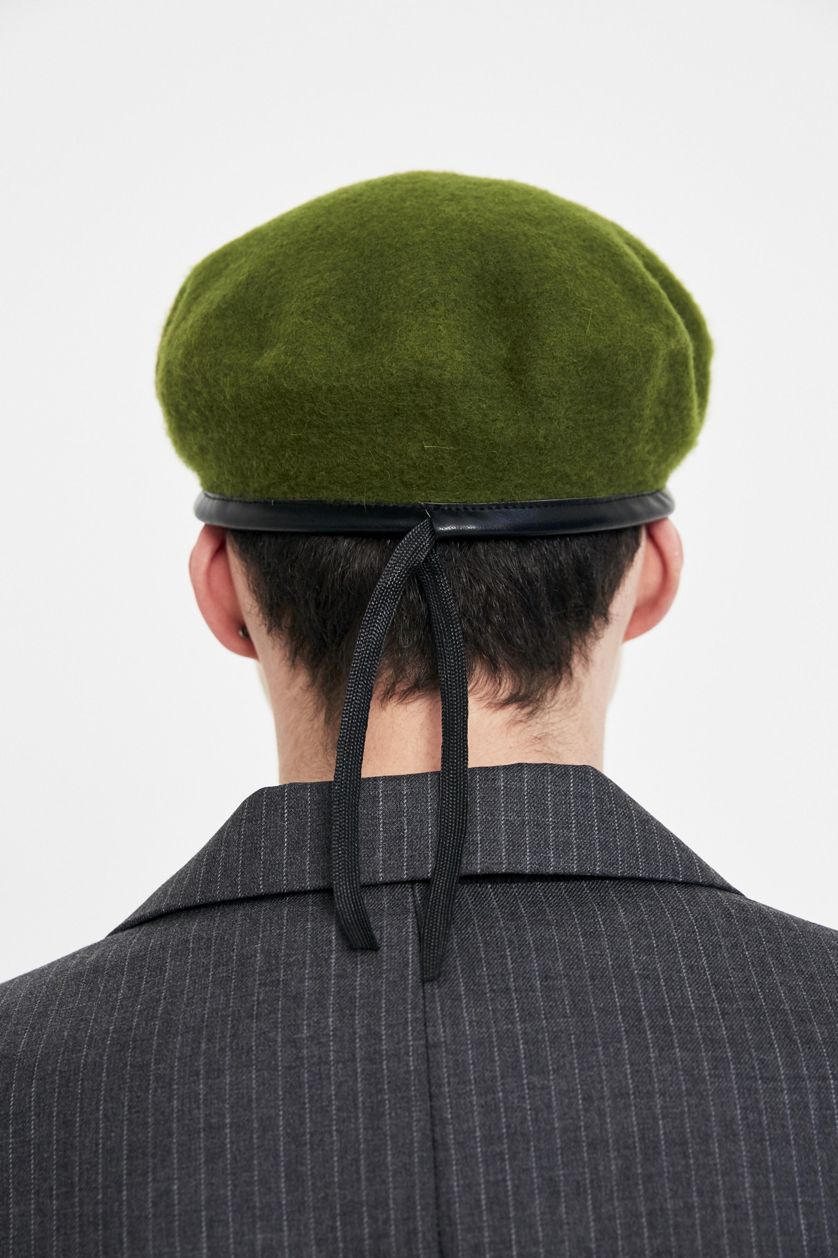 c20d6617f878f Gosha Rubchinskiy Green Military Beret in Green for Men - Lyst