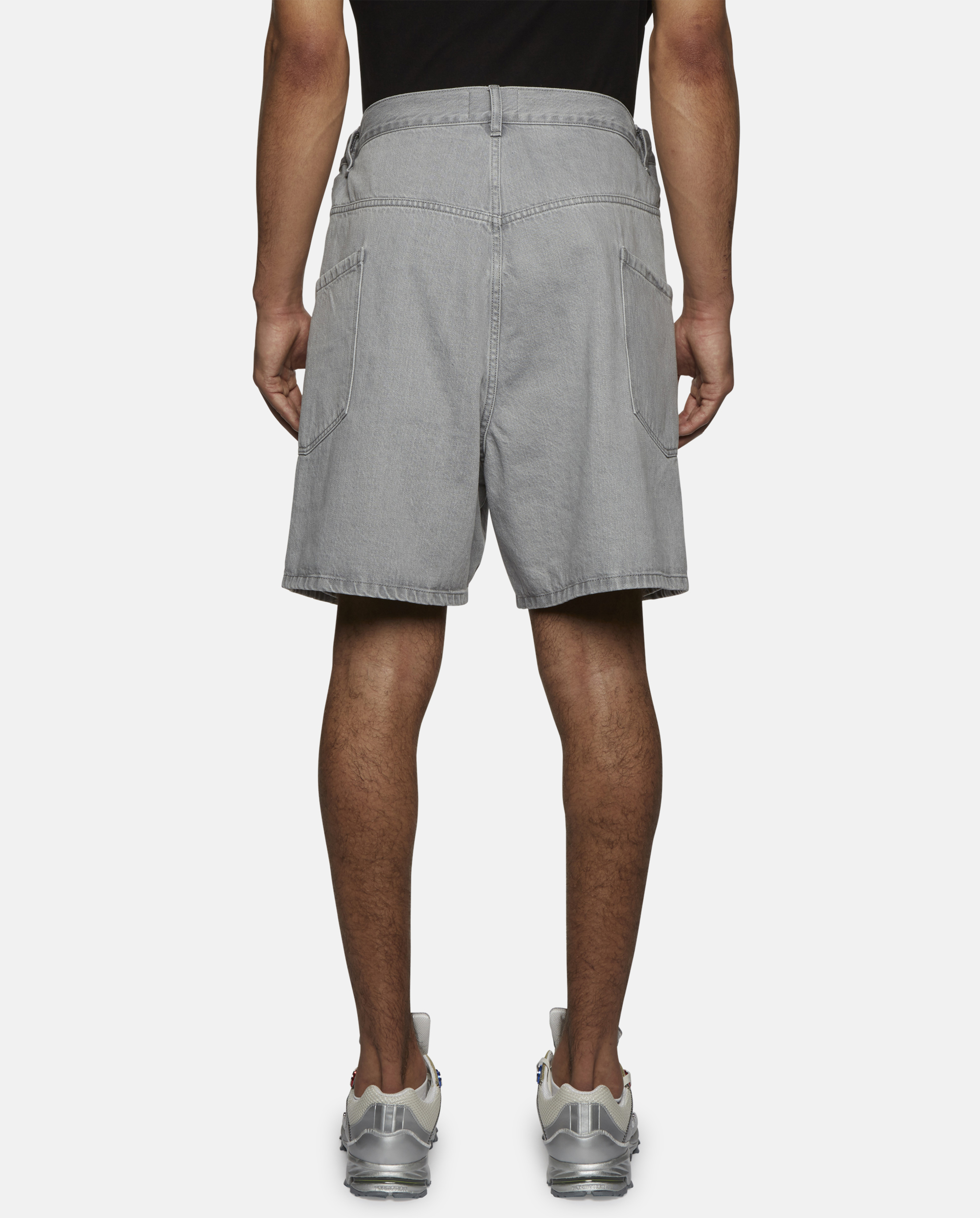 6f0c258183a Lyst - Christopher Shannon Denim Double Width Shorts in Gray for Men