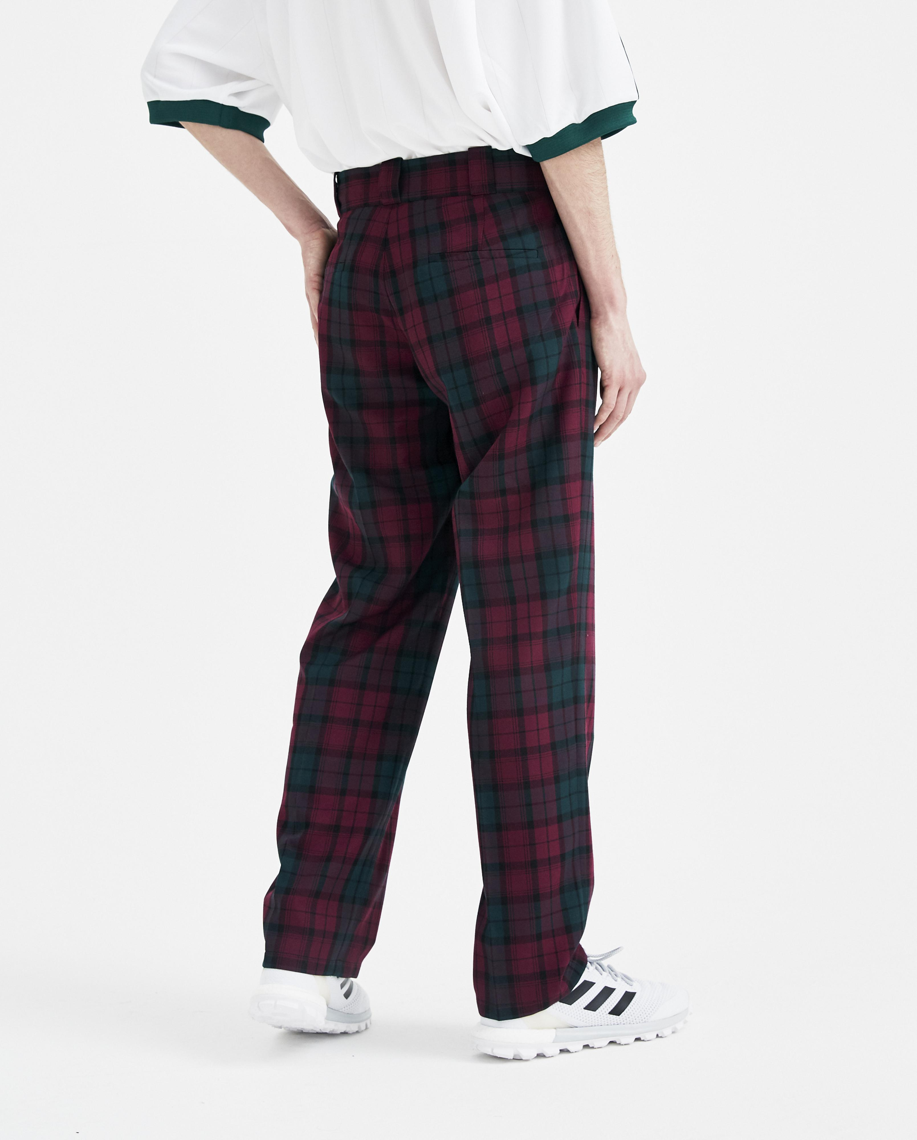 Gosha Rubchinskiy Purple Check Pants for Men