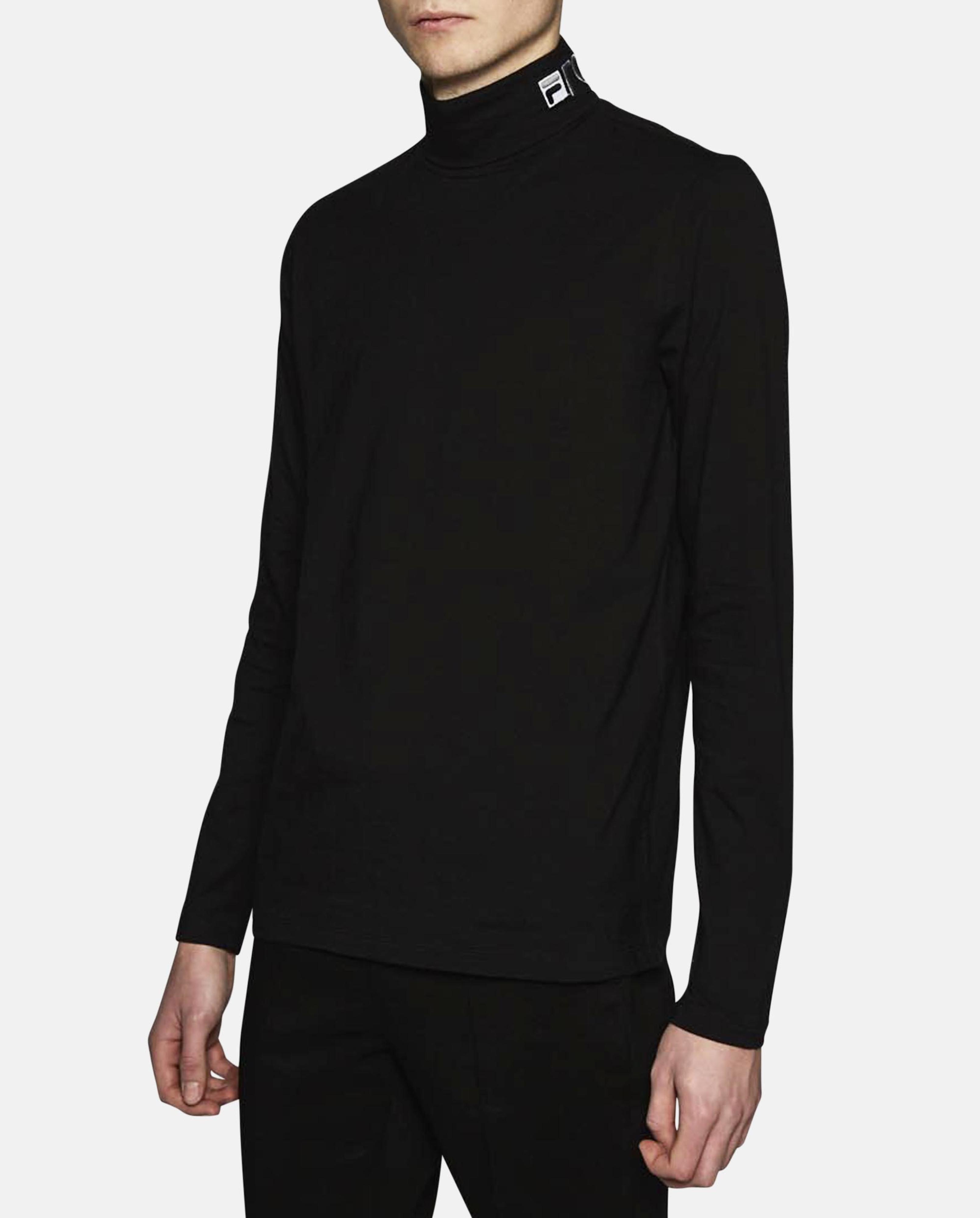 Gosha Rubchinskiy Fila Roll Neck T Shirt In Black For Men