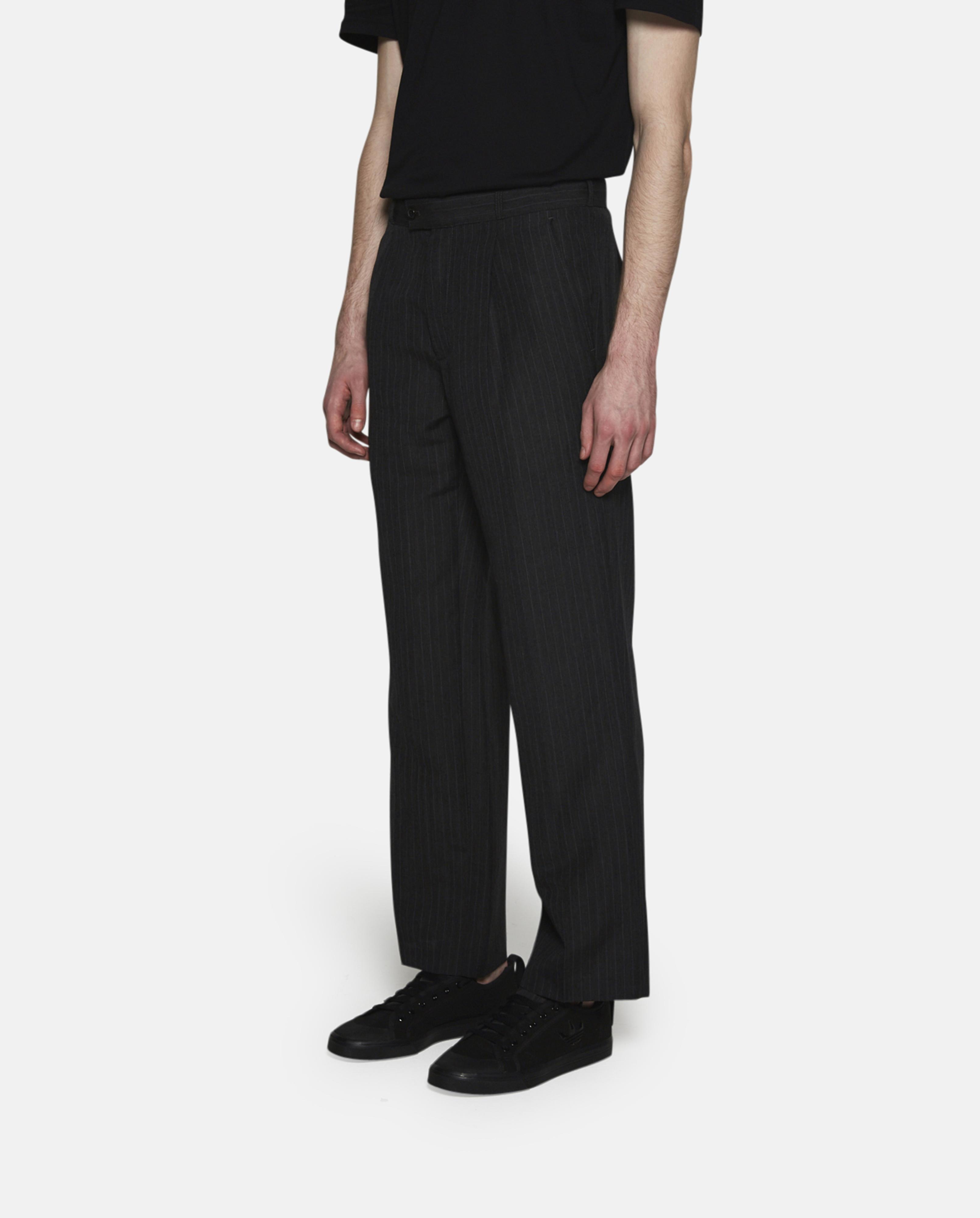 Gosha Rubchinskiy Wool Striped Suit Trousers in Black for Men