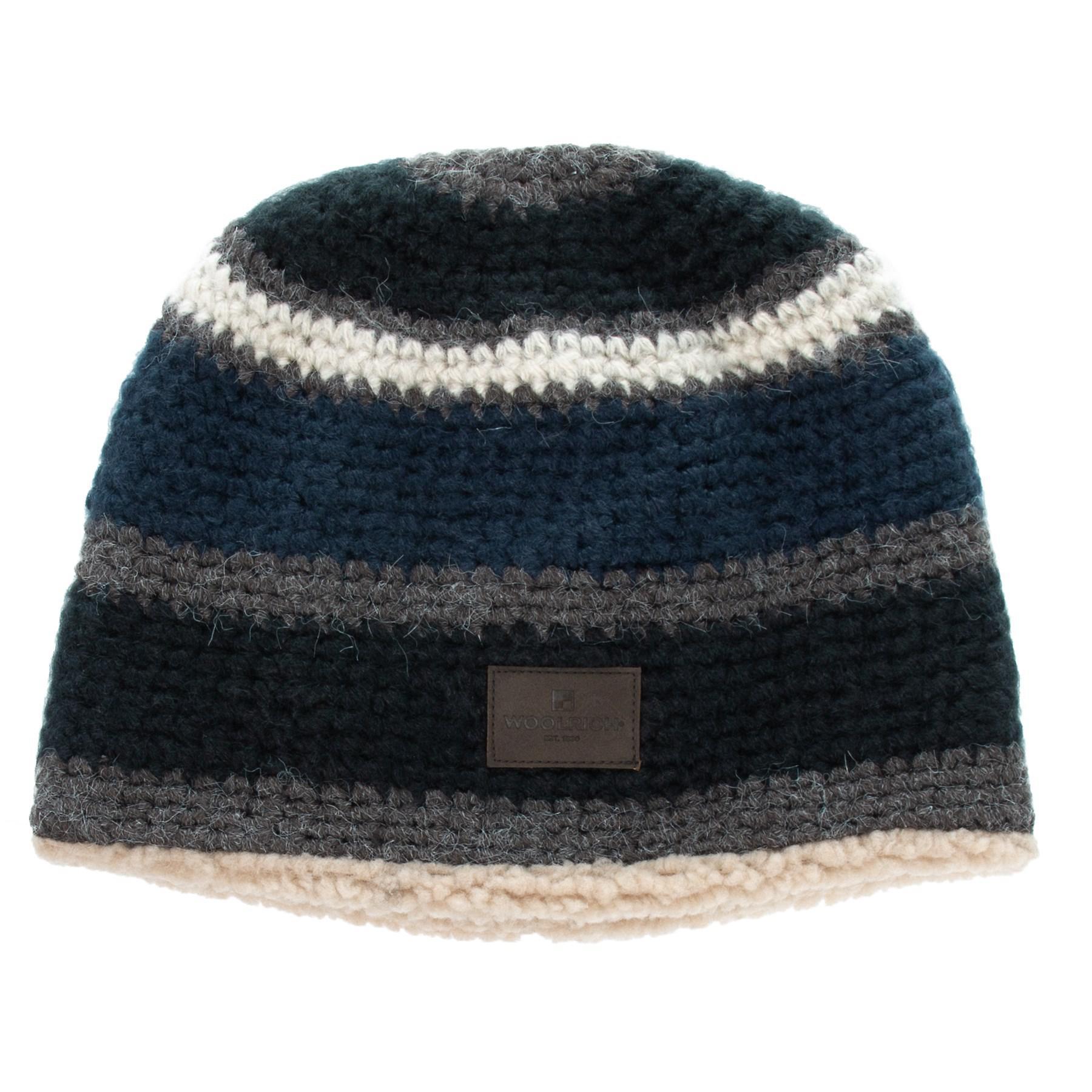 Lyst - Woolrich Stripe Faux-sherpa Beanie (for Men) in Blue for Men 8e4c3f819bdc