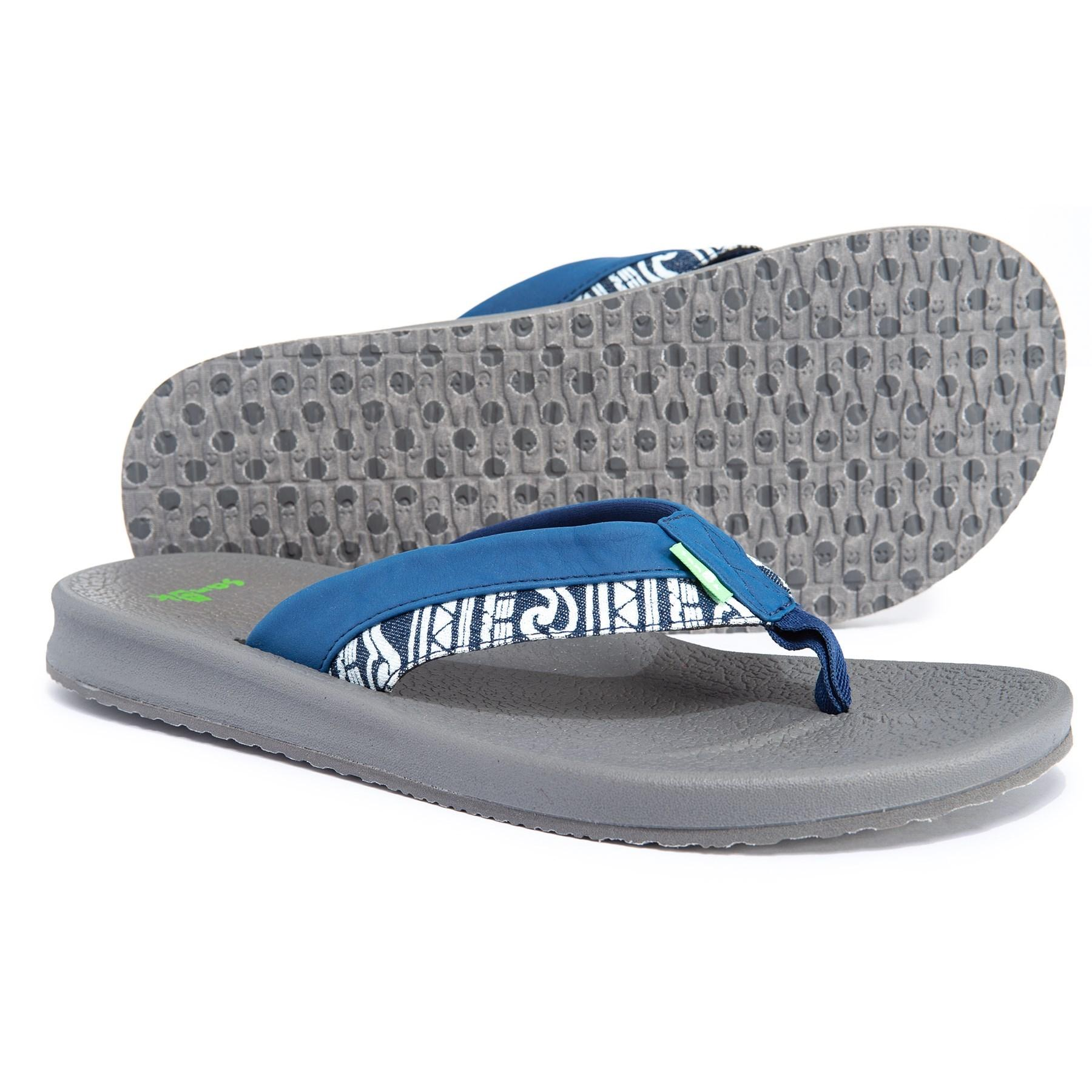 fc2a4766f8e Lyst - Sanuk Brumeister Funk Flip-flops (for Men) in Blue for Men