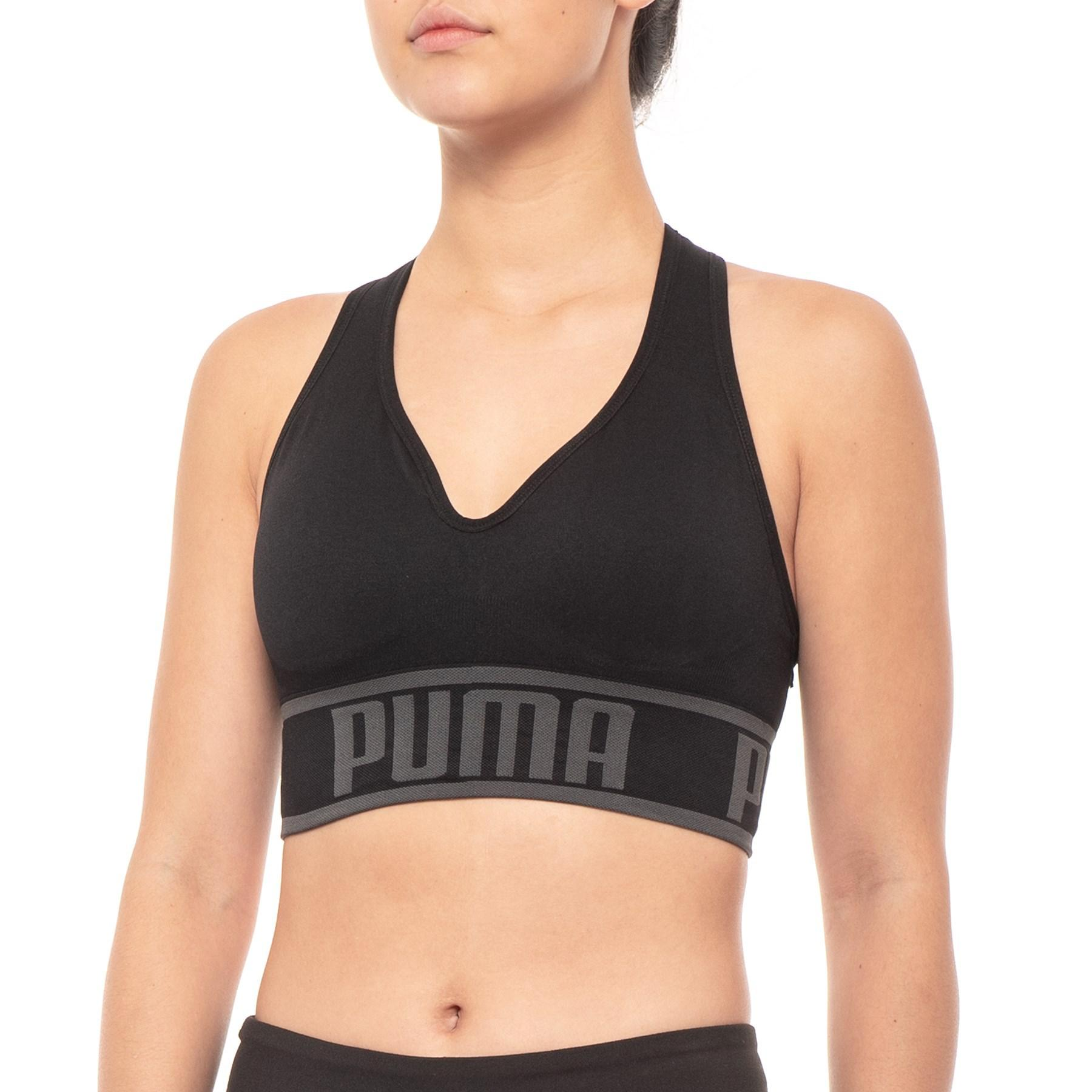 5b608d928b1 Lyst - PUMA Seamless Apex Racerback Sports Bra in Black - Save 17%