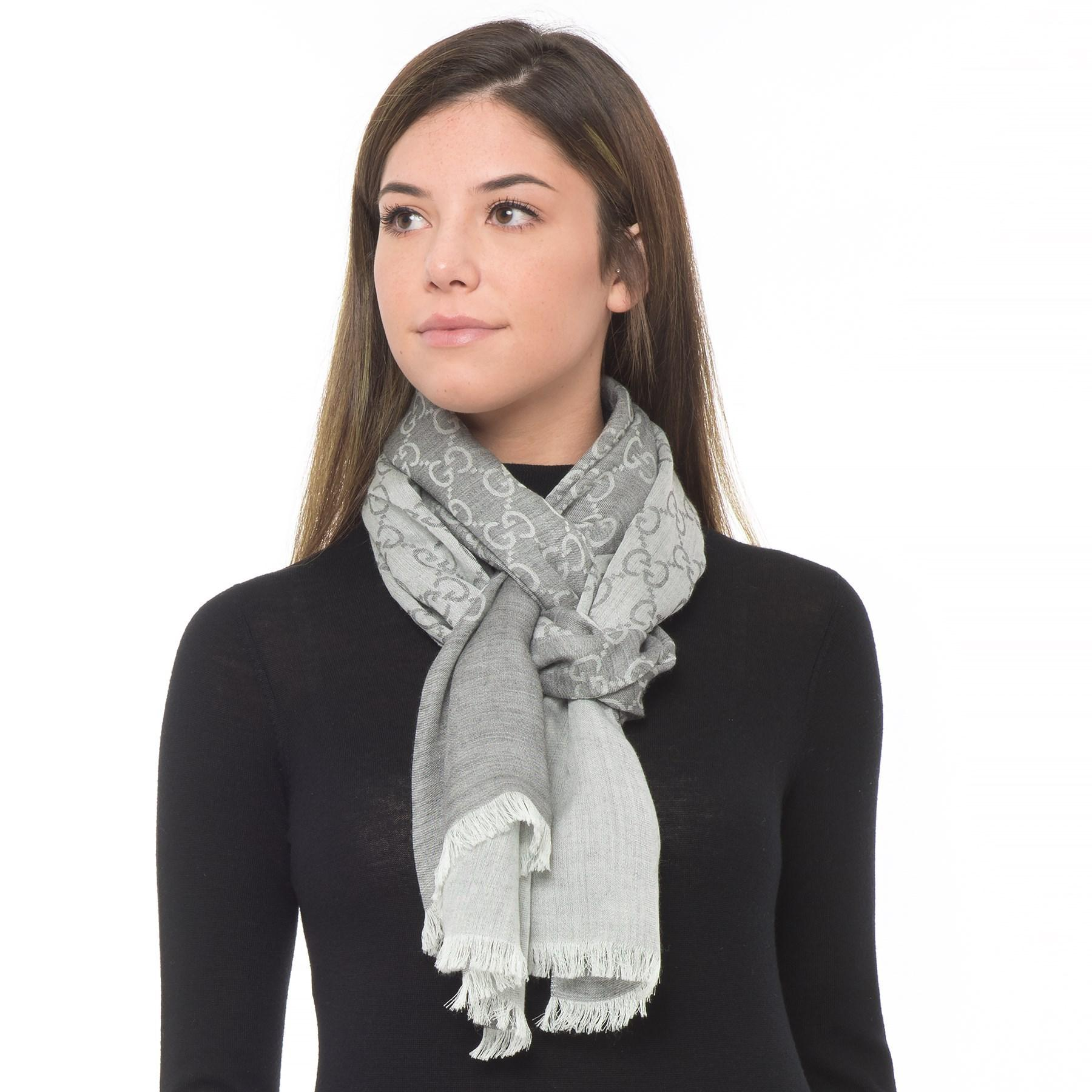 ad3e4359d8 Gucci Gray Wool And Silk Scarf (for Men And Women)
