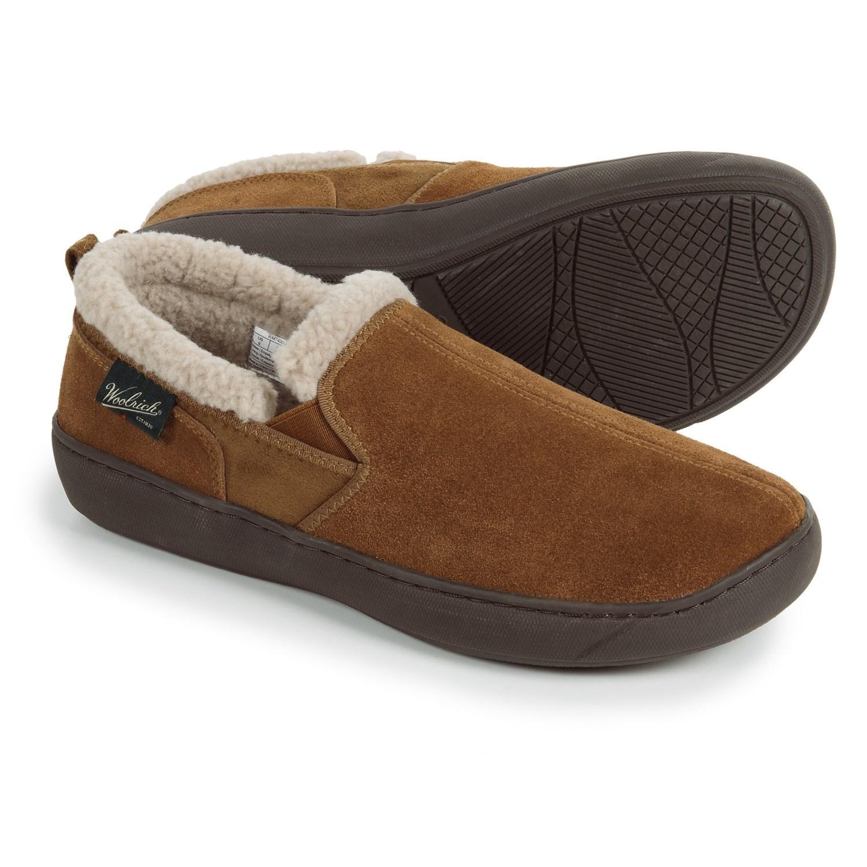 Woolrich Suede Buck Run Slippers in