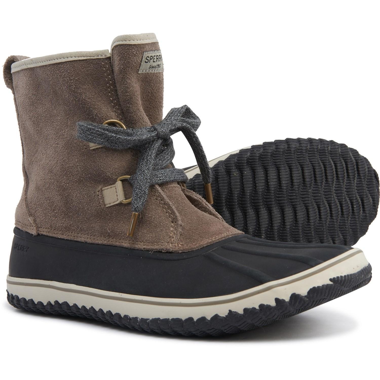 Schooner Lace-up Duck Boots in Tan