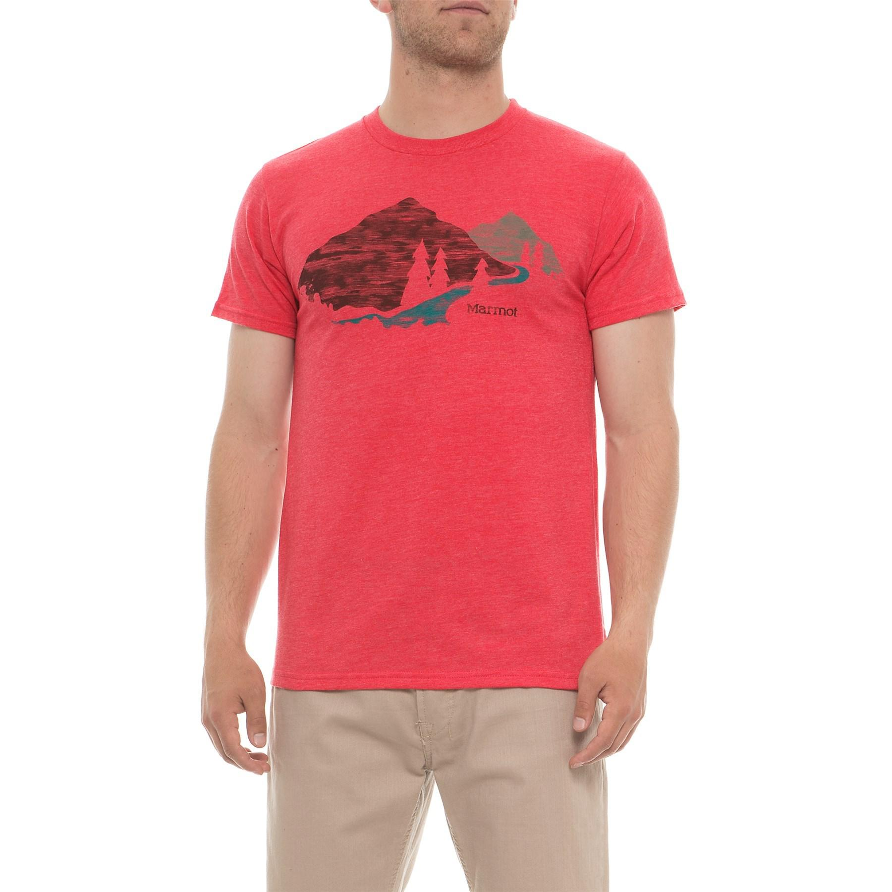 new cheap biggest discount best service Marmot Red Heather Tread Lightly T-shirt for men