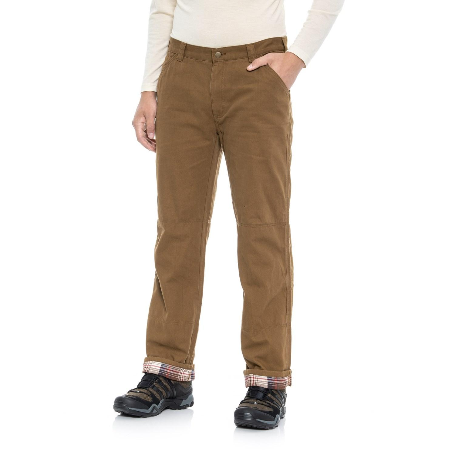 Coleman Flannel Lined Pants In Brown For Men Lyst