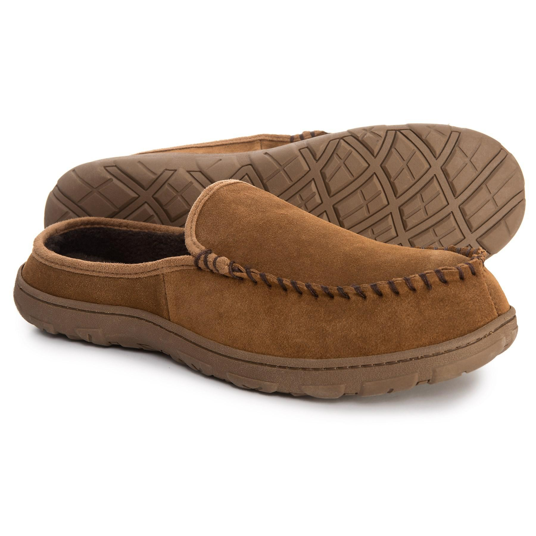 Rockport Genuine Suede Clog Slippers