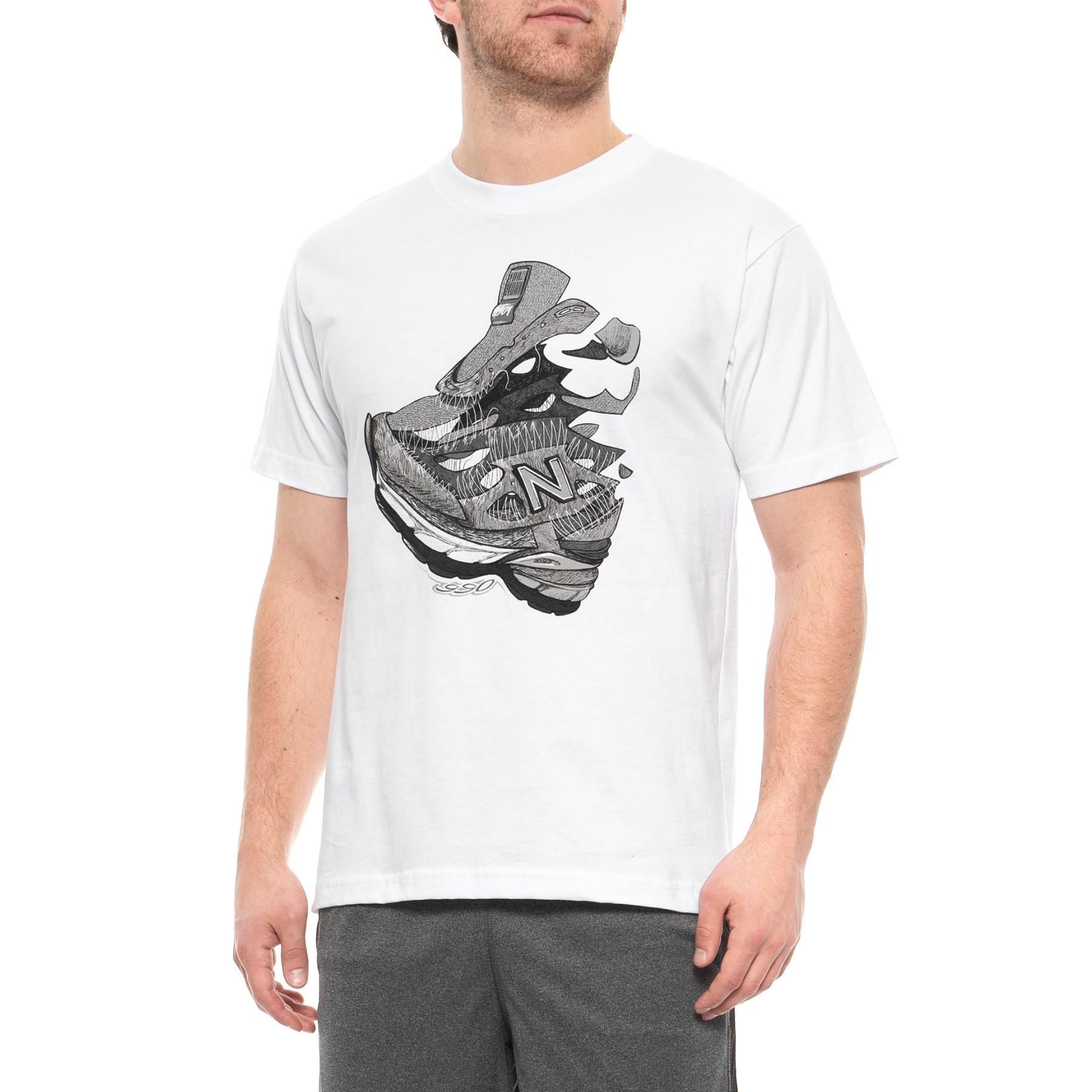 timeless design 84c04 ae707 New Balance White 990 V4 T-shirt for men