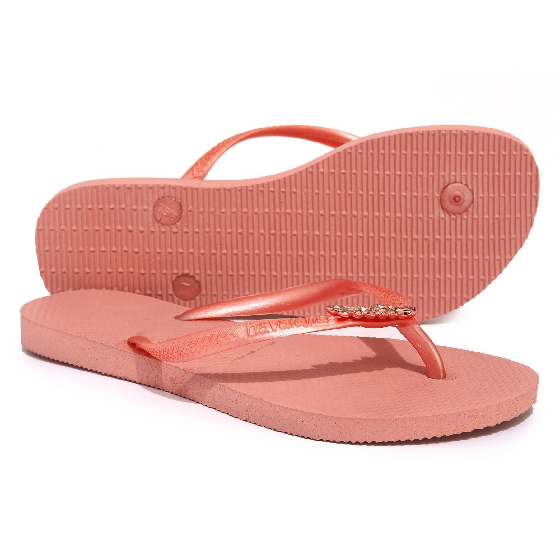 9c93769f4 Lyst - Havaianas Slim Lux Flip Flop (women) in Pink - Save 21%