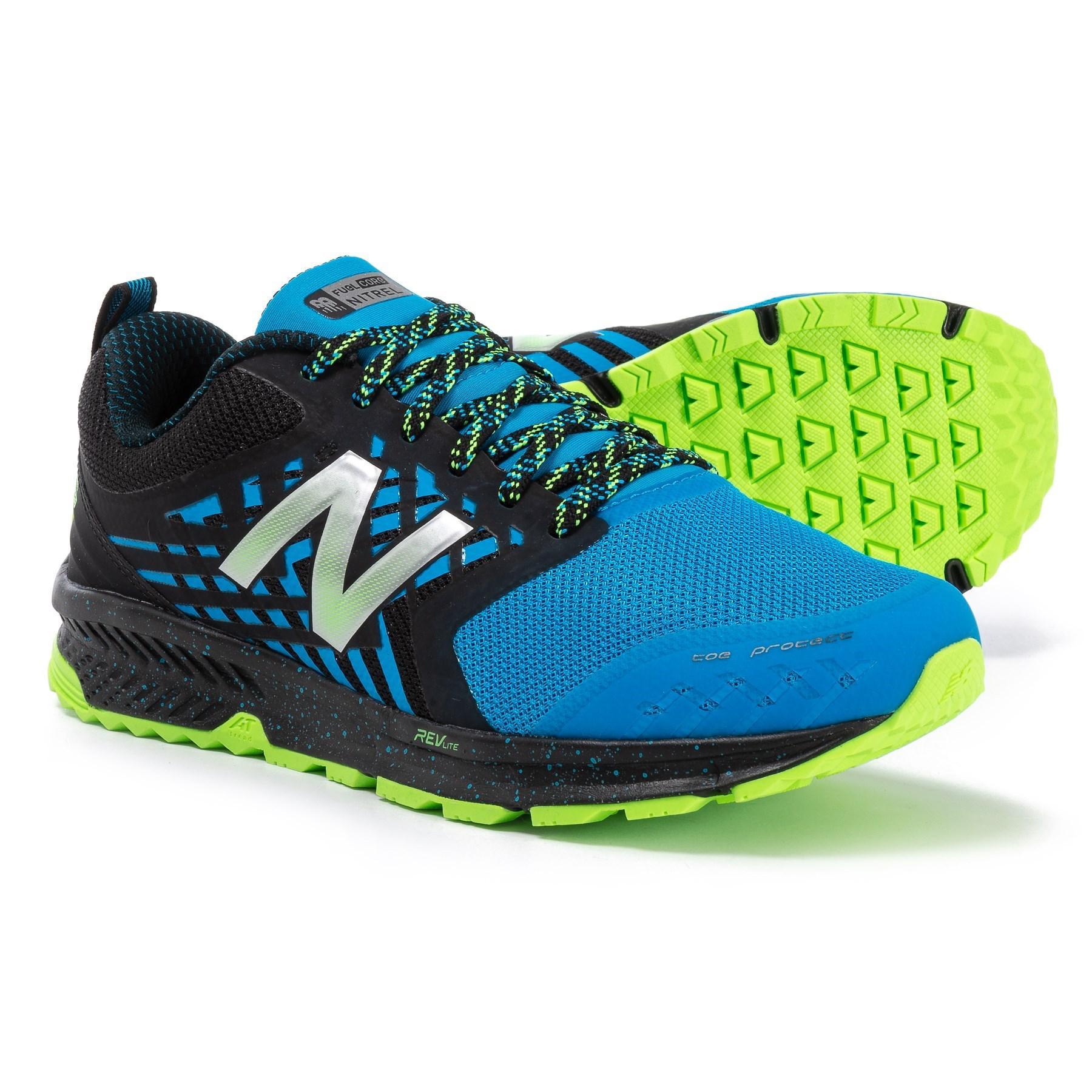 41374257115 New Balance Blue Fuelcore Nitrel Trail Running Shoes (for Men) for men