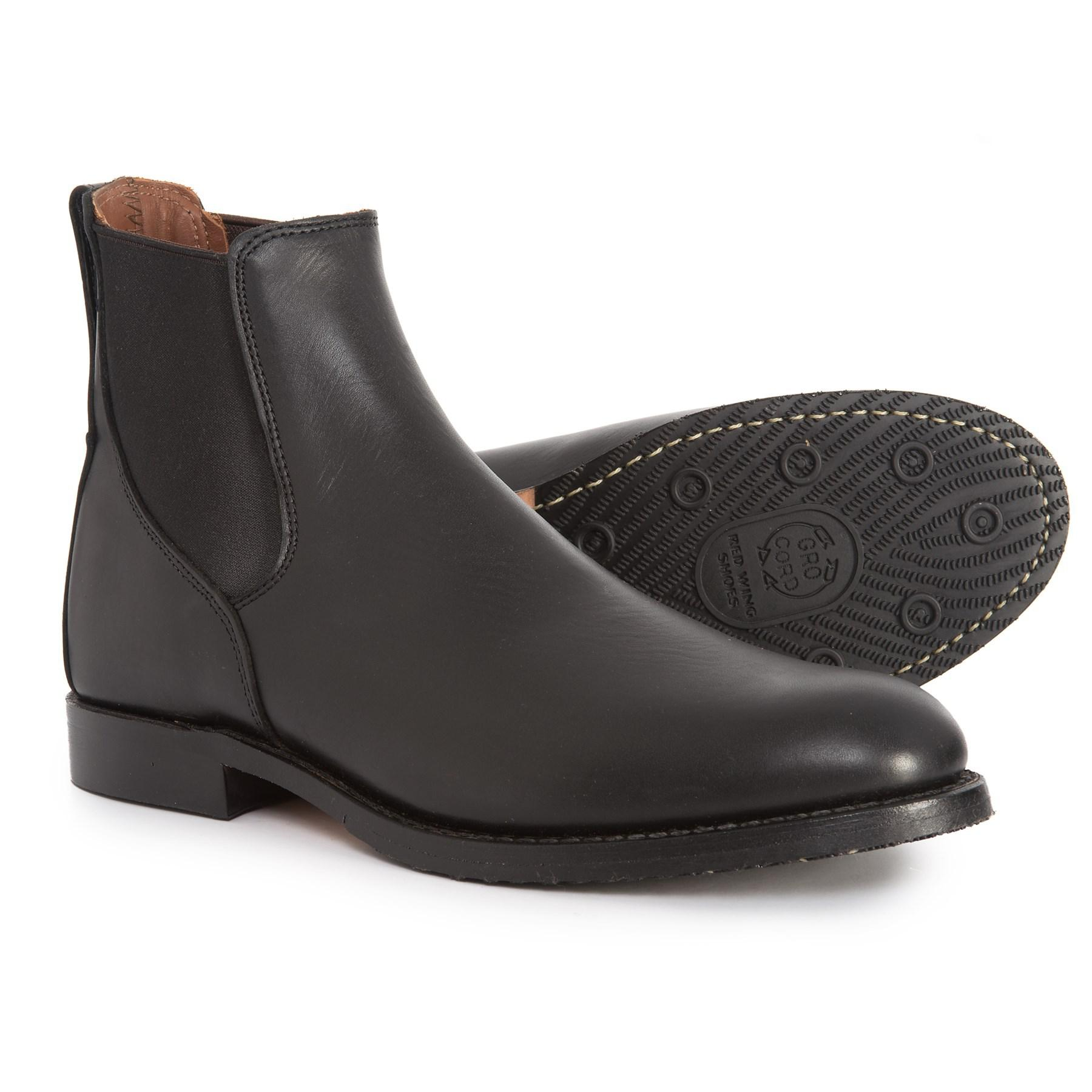usa cheap sale on feet at exquisite style Red Wing Leather Mil-1 Congress Chelsea Boots in Black fs (Black ...