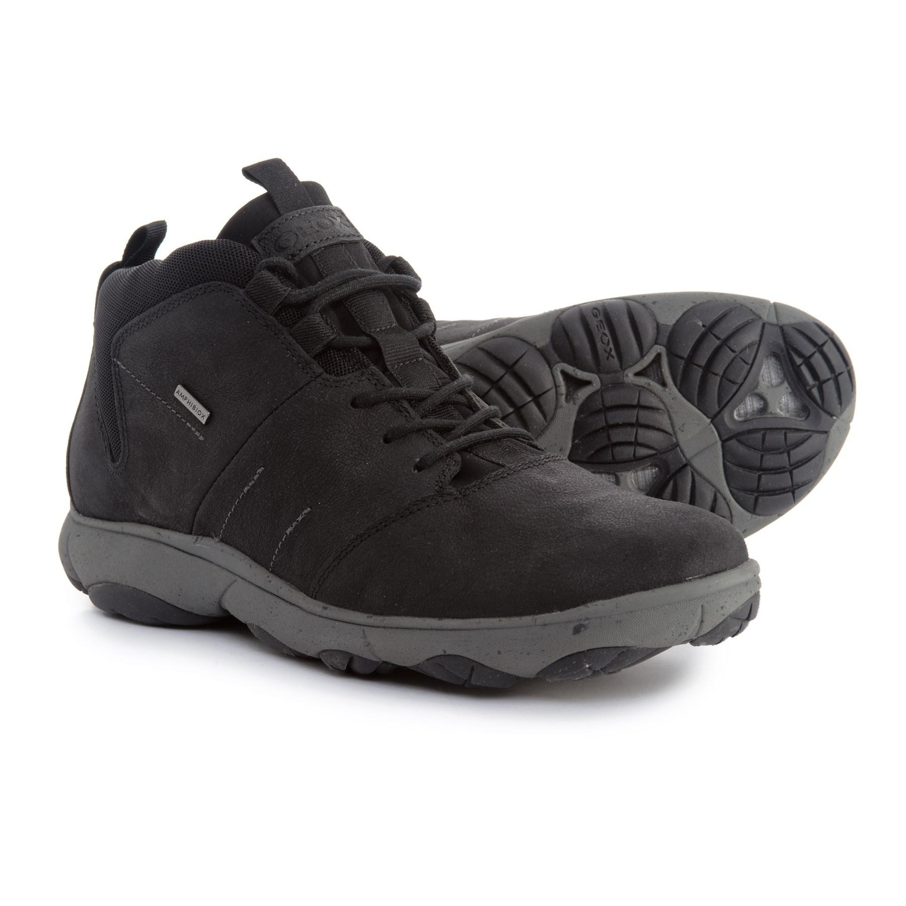 es inutil Terrible lineal  Geox Leather Nebula 4x4 B Abx Boots (for Men) in Black for Men - Lyst