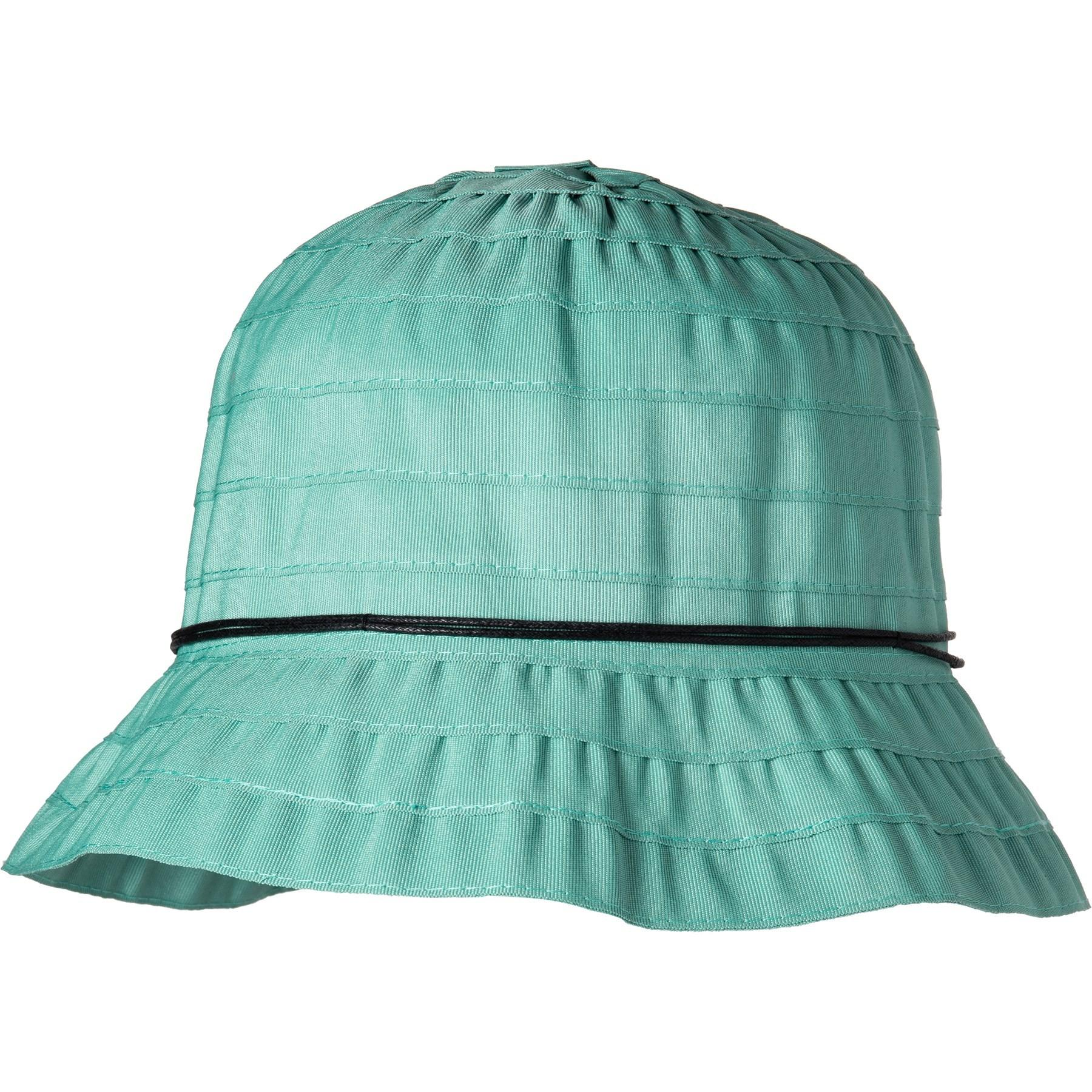 ace60ab6a Lyst - Dorfman Pacific Packable Ribbon Bucket Hat (for Women) in Green