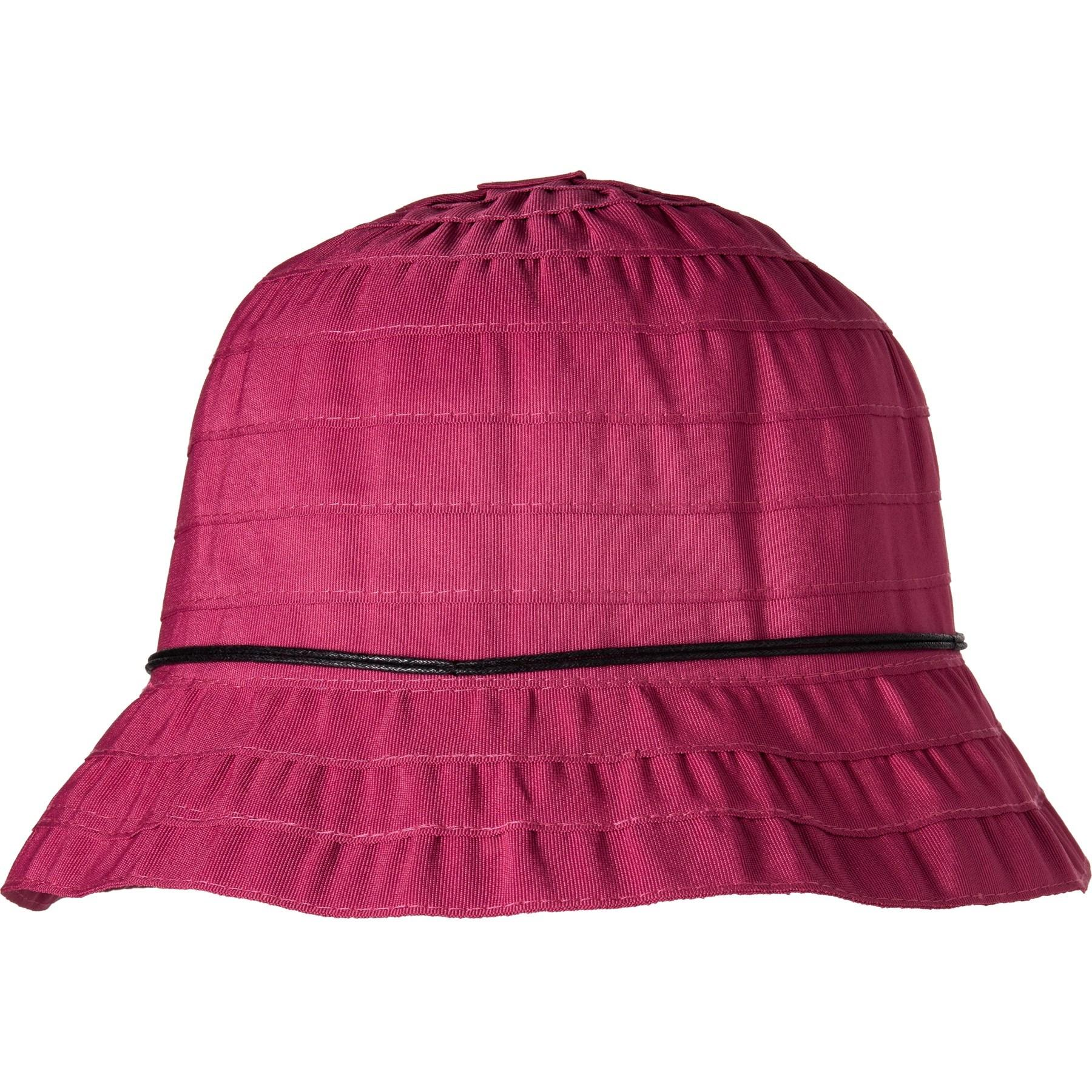 9e7081a7e Lyst - Dorfman Pacific Packable Ribbon Bucket Hat (for Women) in Purple