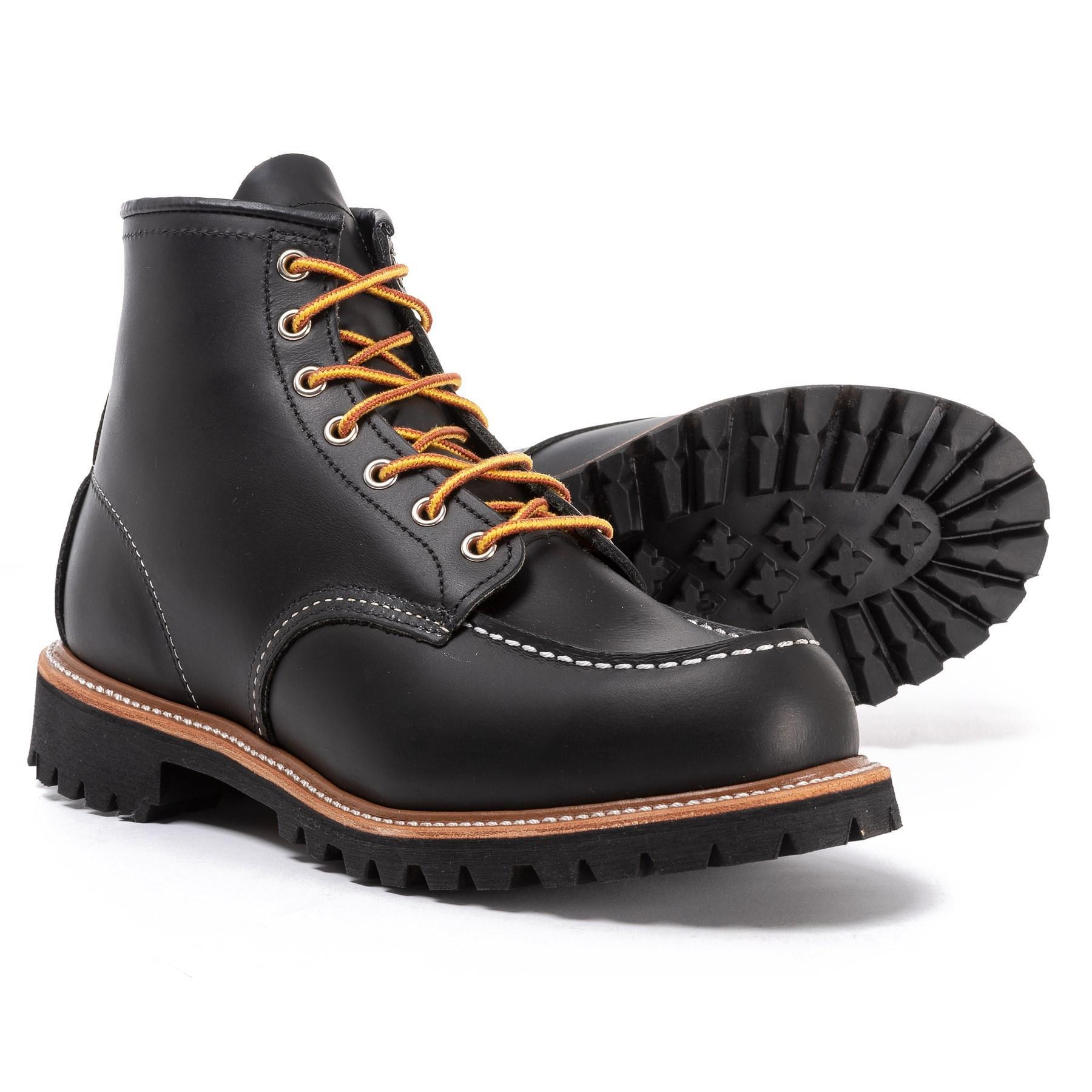 fe9c327e207 Red Wing Black Irish Setter Classic Moc-toe Work Boots for men