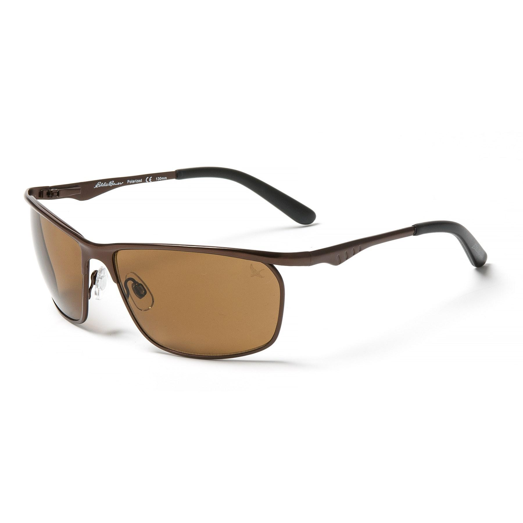 0c5d14eb6d1 Lyst - Eddie Bauer 62 Metal Shield Sunglasses in Brown for Men