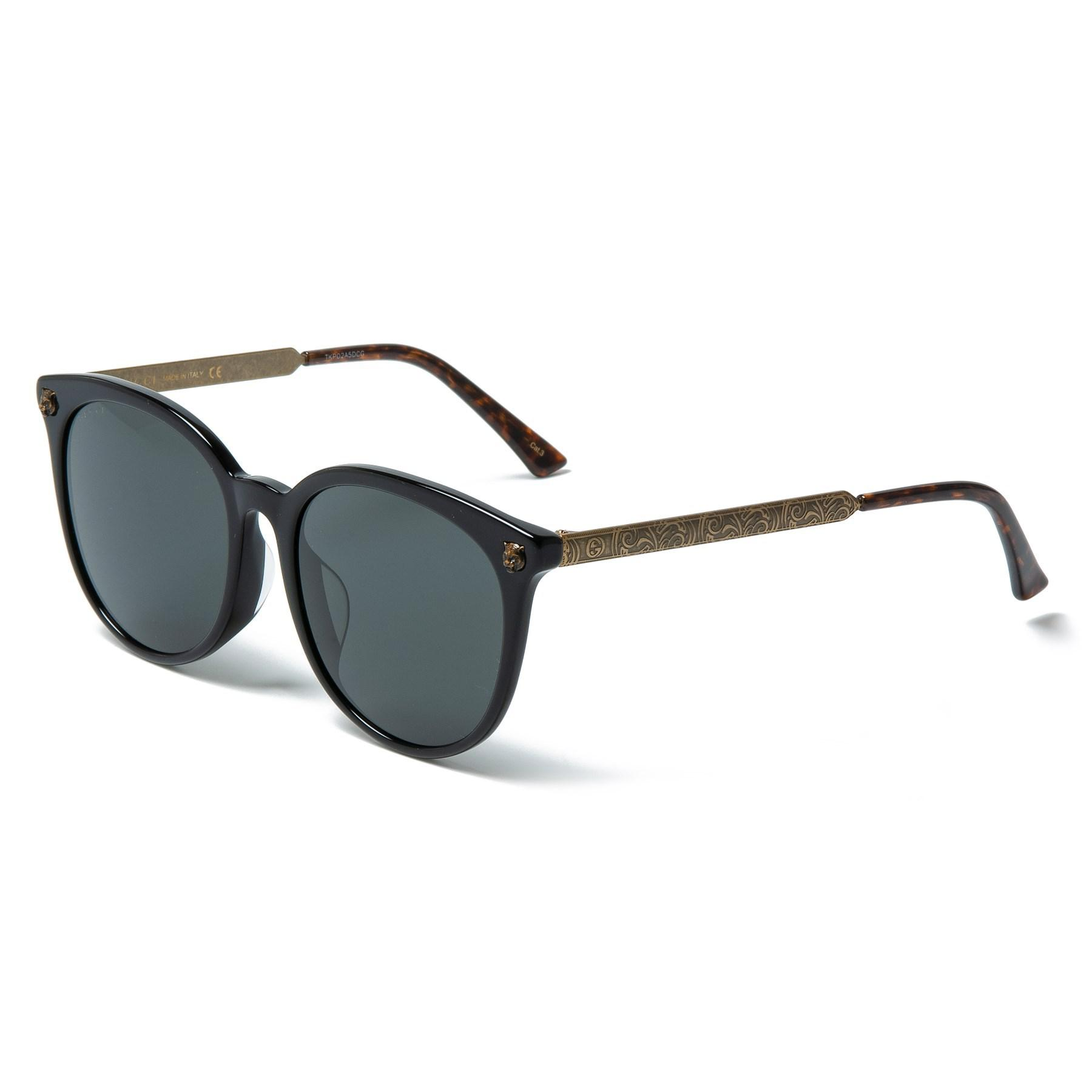1373ac3dd7a Lyst - Gucci Modern Wayfarer Sunglasses (for Women) in Black