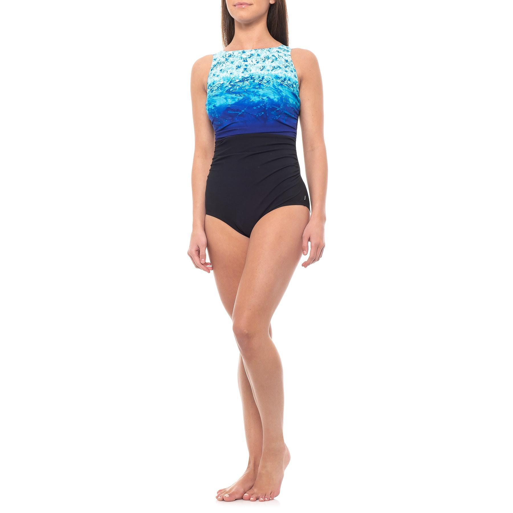 df59499e92cbe Lyst - Reebok Surftastic High-neck One-piece Swimsuit (for Women) in ...