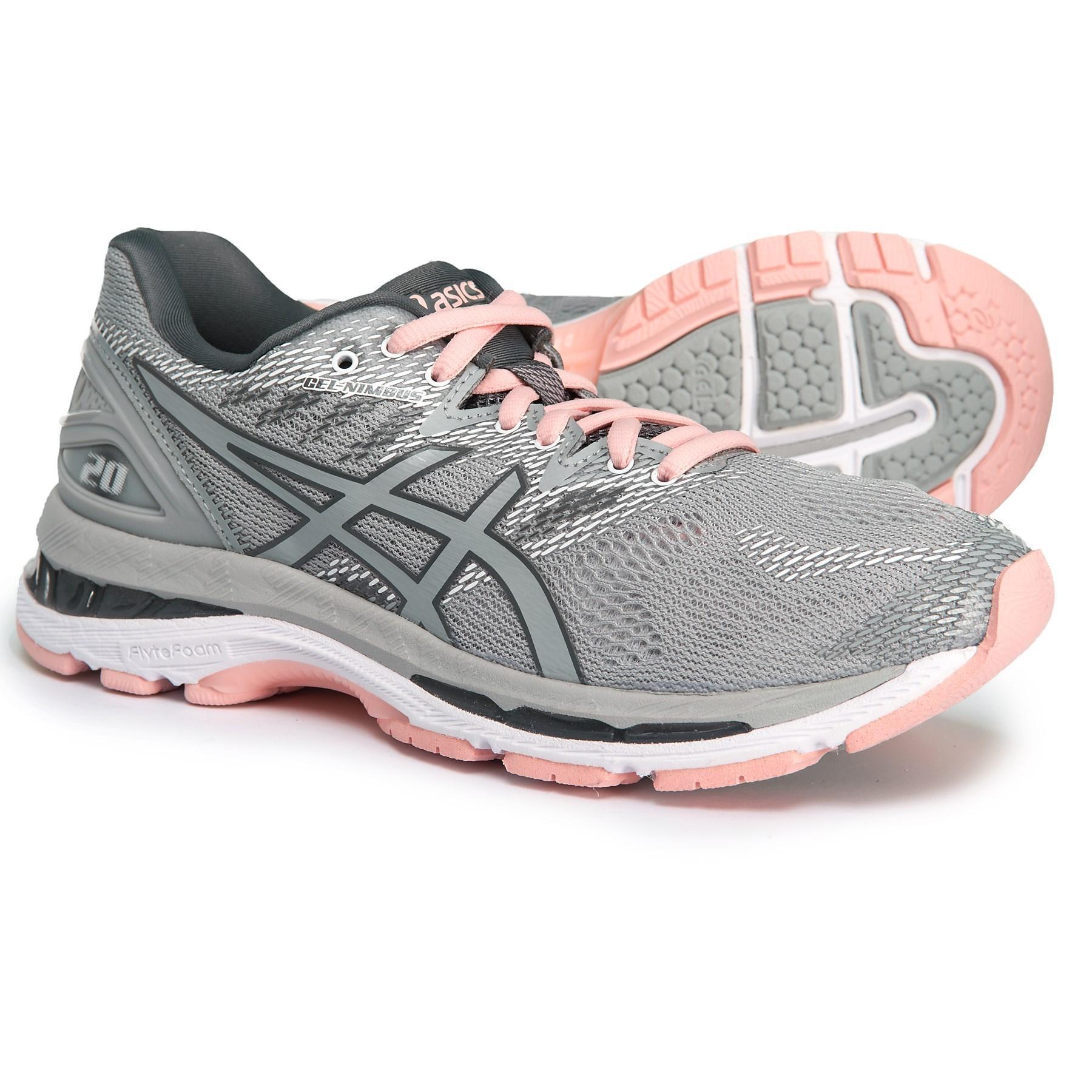 bce57a4a7af Women's Gray Gel-nimbus 20 Running Shoes