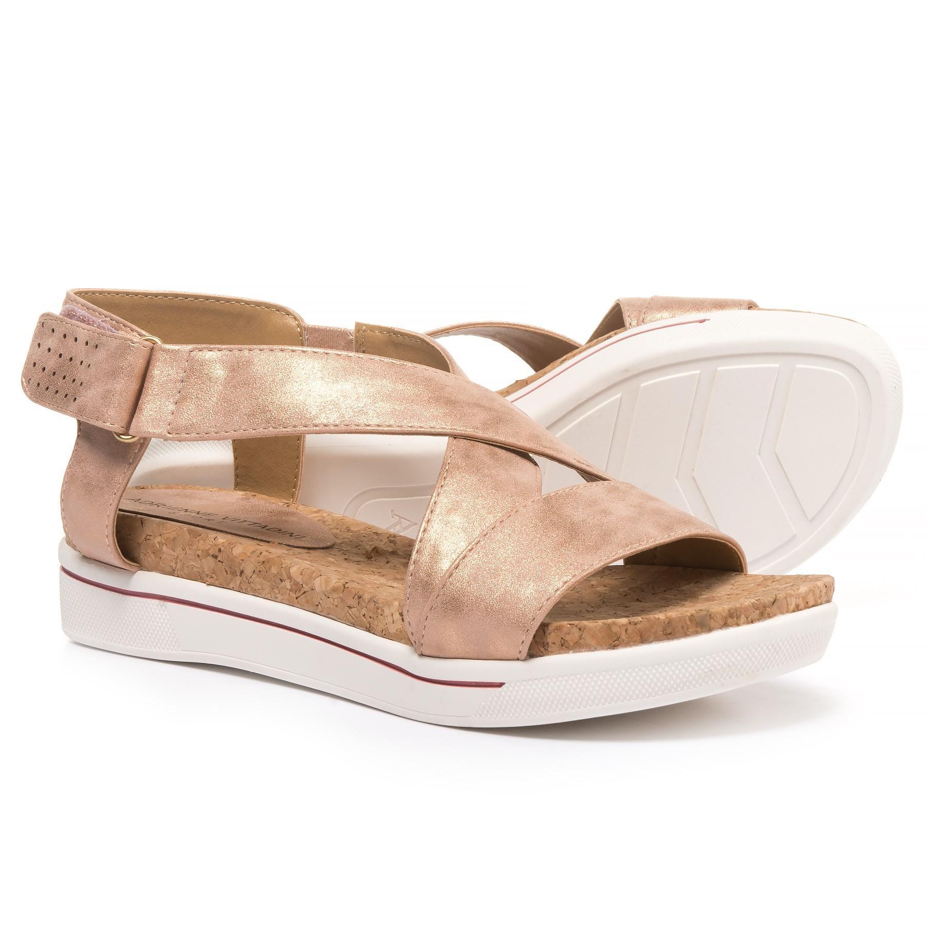 c0c3a3b661fb Lyst - Adrienne Vittadini Sport Celie Sandals in Metallic
