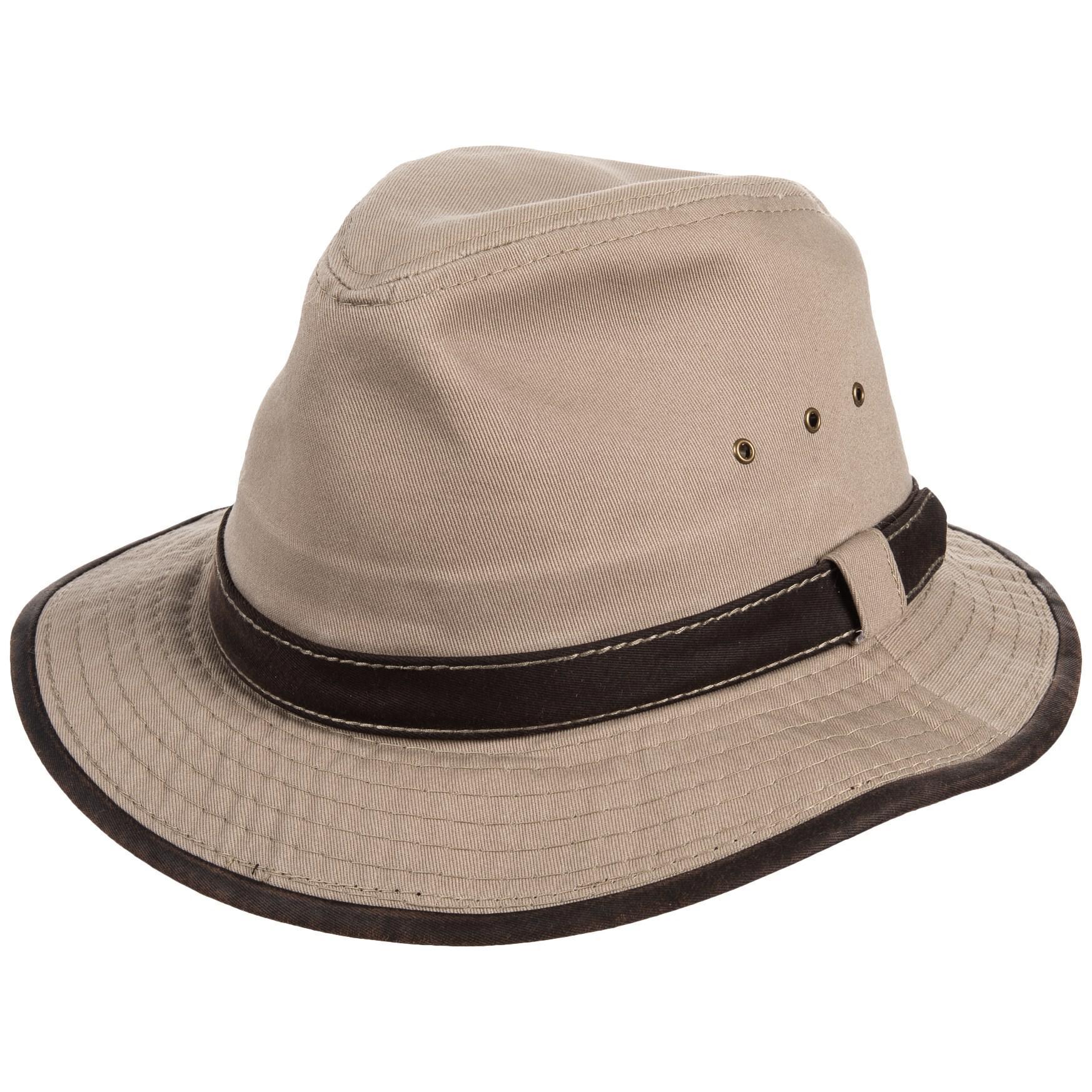 504671622db030 Dorfman Pacific Garment-washed Twill Safari Hat in Natural for Men ...
