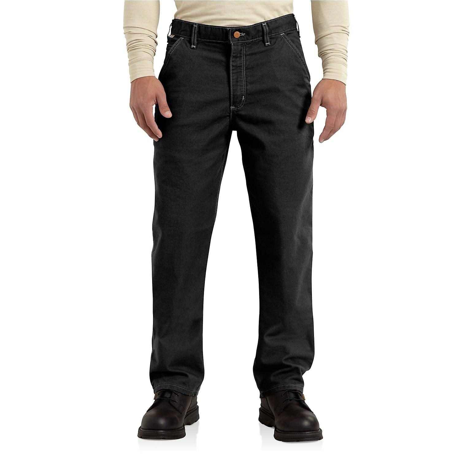 bd6dc0dc724e Carhartt. Black Flame-resistant Washed Duck Work Dungaree Pants (for Men)