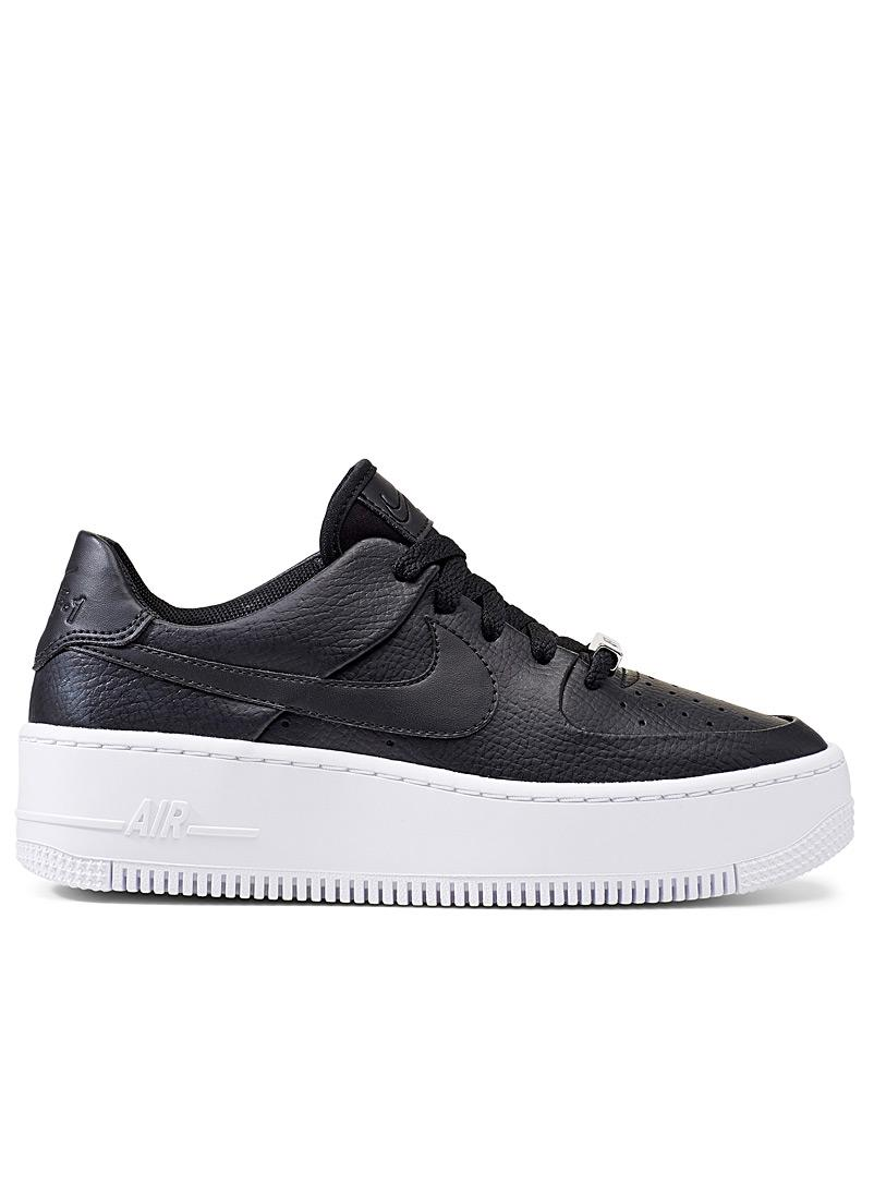 Nike Leather Air Force 1 Sage Low Basketball Shoes in Black/White ...