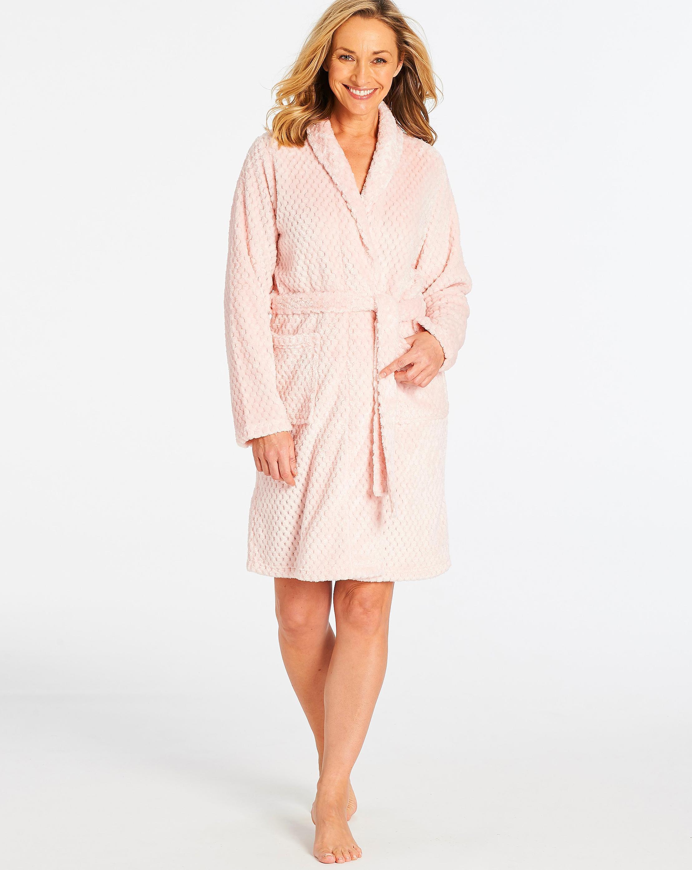 4cf3e02fc4 ... Pretty Secrets Textured Fleece Gown - Lyst. View fullscreen