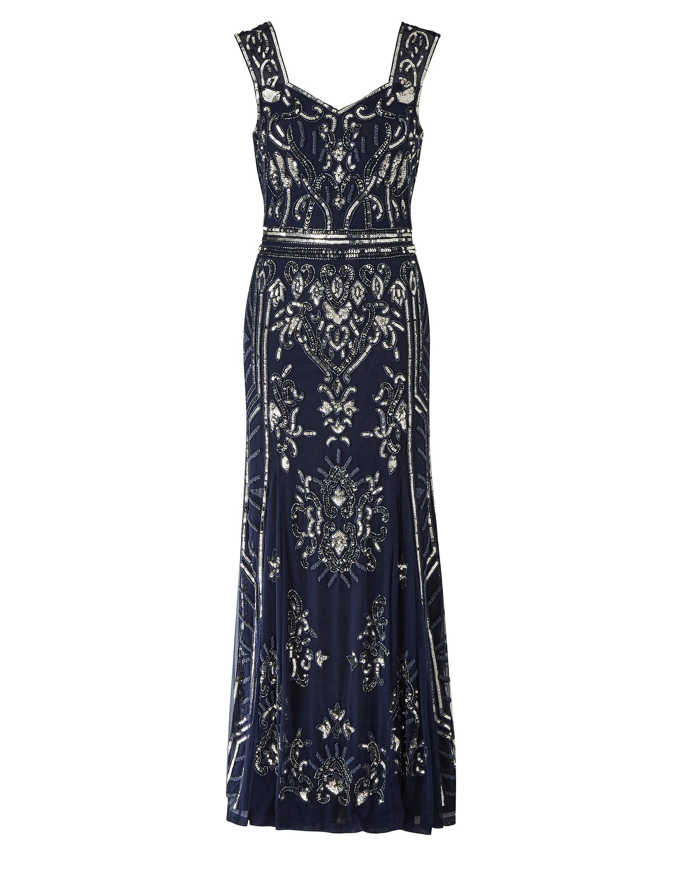 c28a1c8421 Simply Be Joanna Hope Beaded Maxi Dress in Blue - Save 1% - Lyst